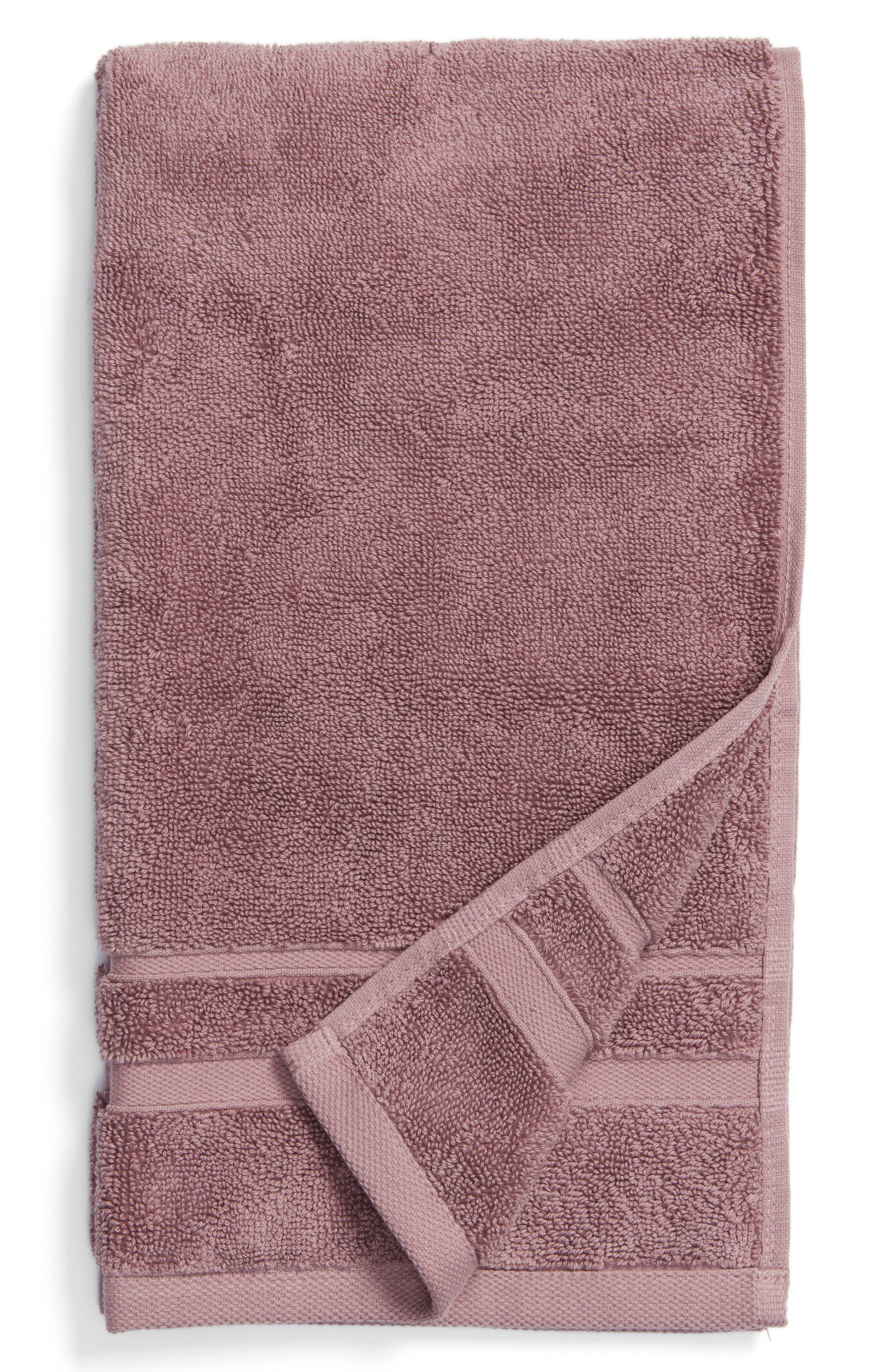 Studio 'Perennial' Combed Turkish Cotton Hand Towel,                             Main thumbnail 1, color,                             Mallow