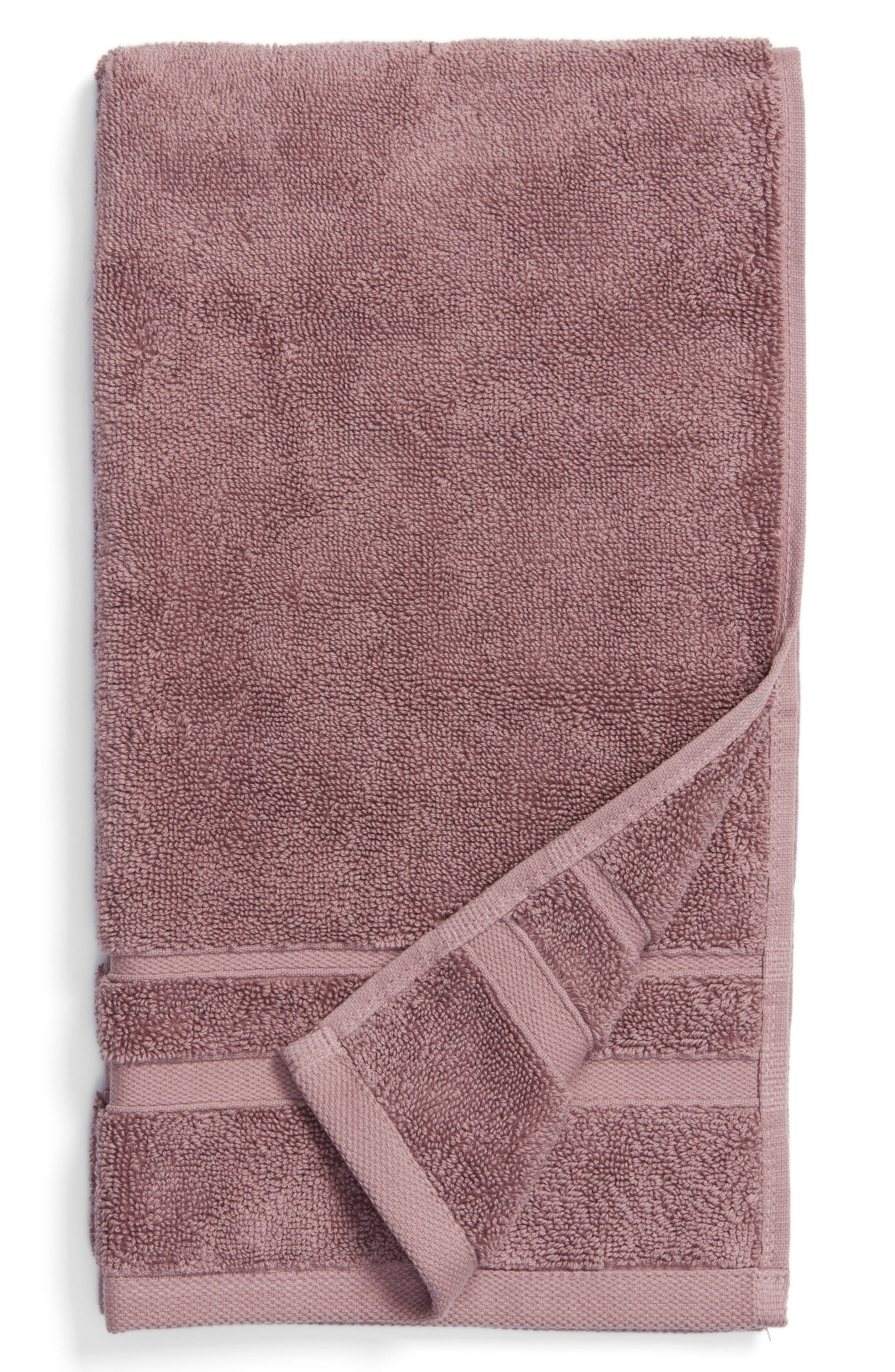 Studio 'Perennial' Combed Turkish Cotton Hand Towel,                         Main,                         color, Mallow