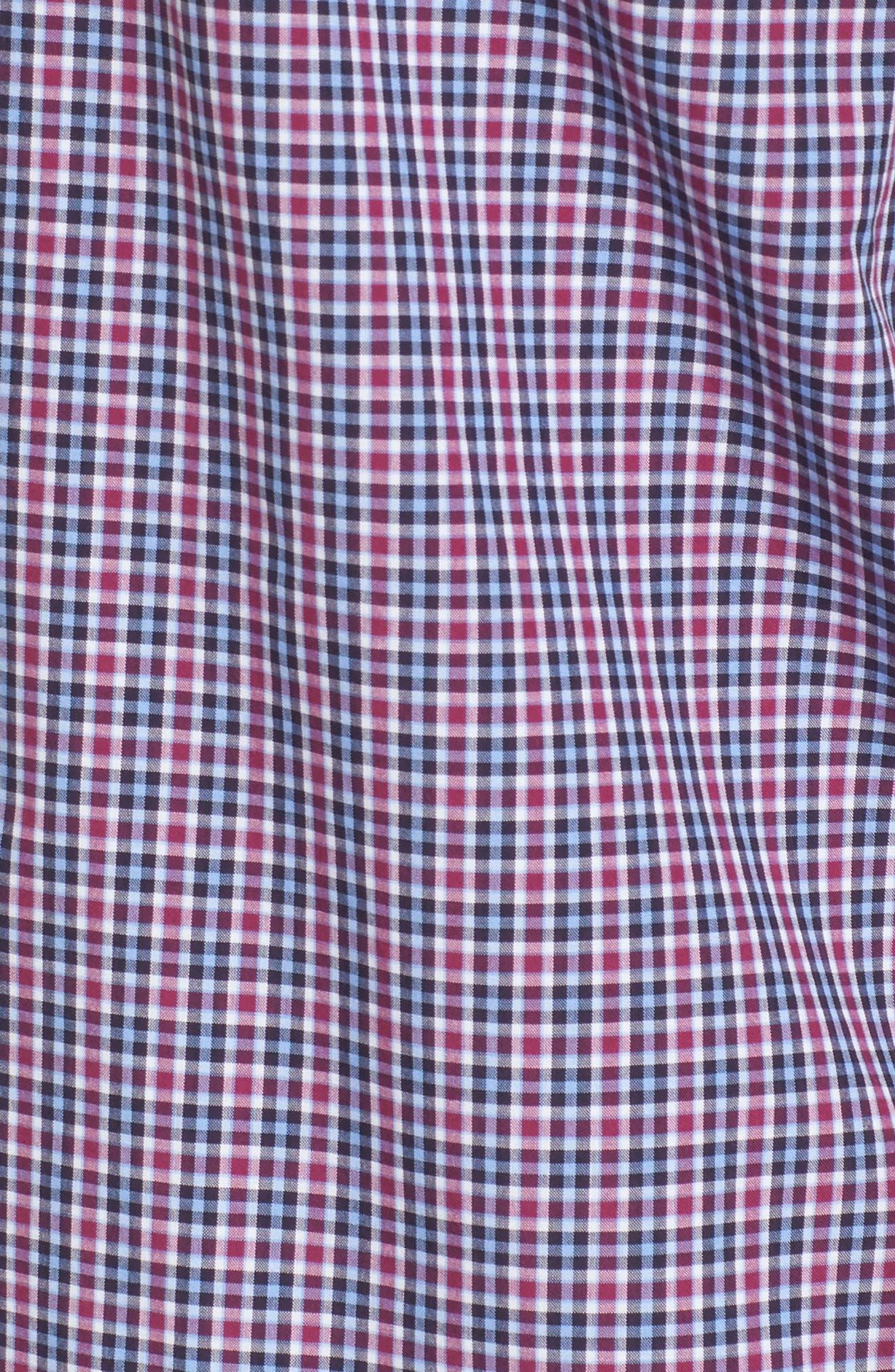 Comfort Fit Plaid Sport Shirt,                             Alternate thumbnail 5, color,                             Medium Purple