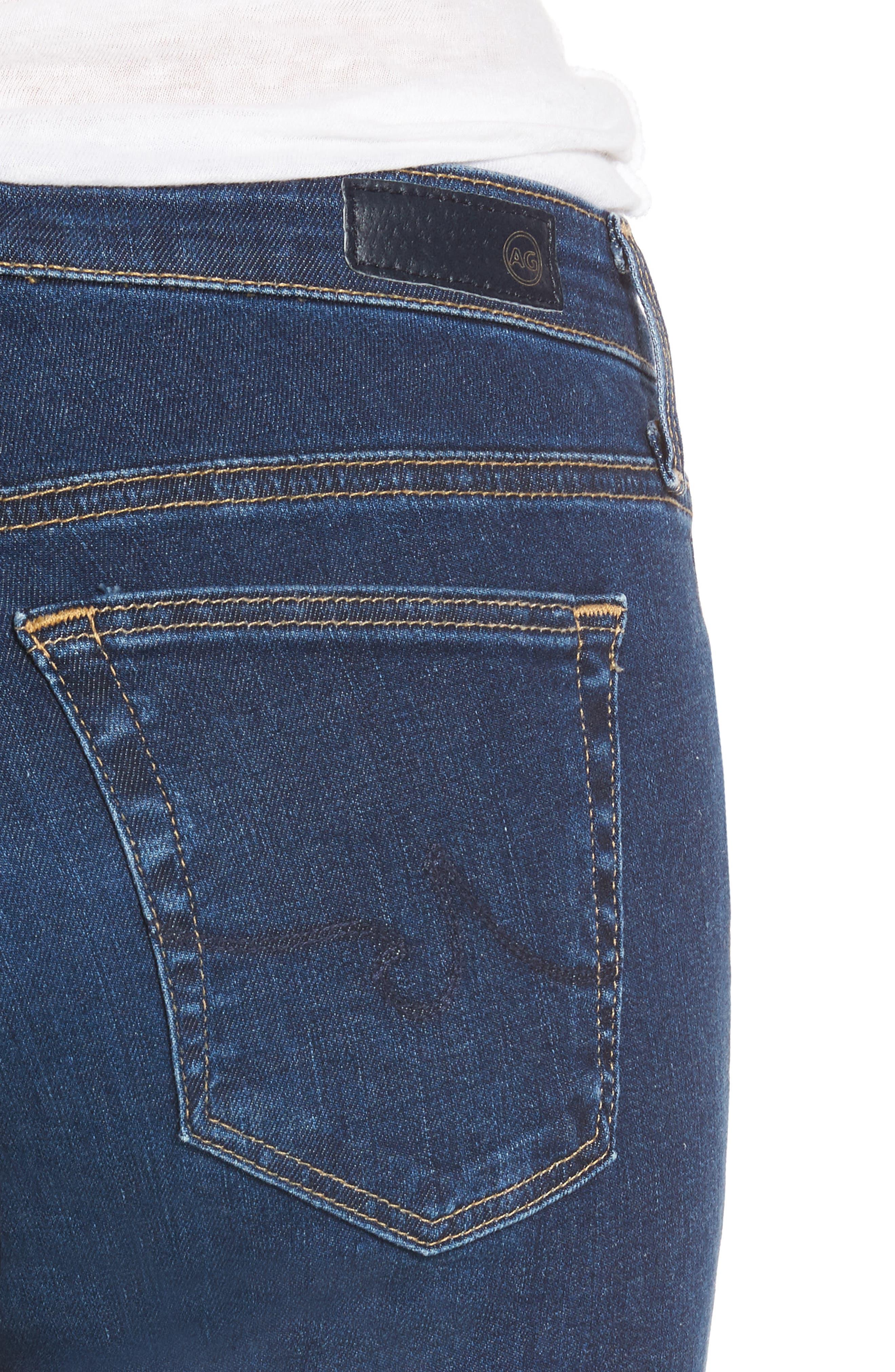 The Stilt Cigarette Leg Jeans,                             Alternate thumbnail 4, color,                             Elysium