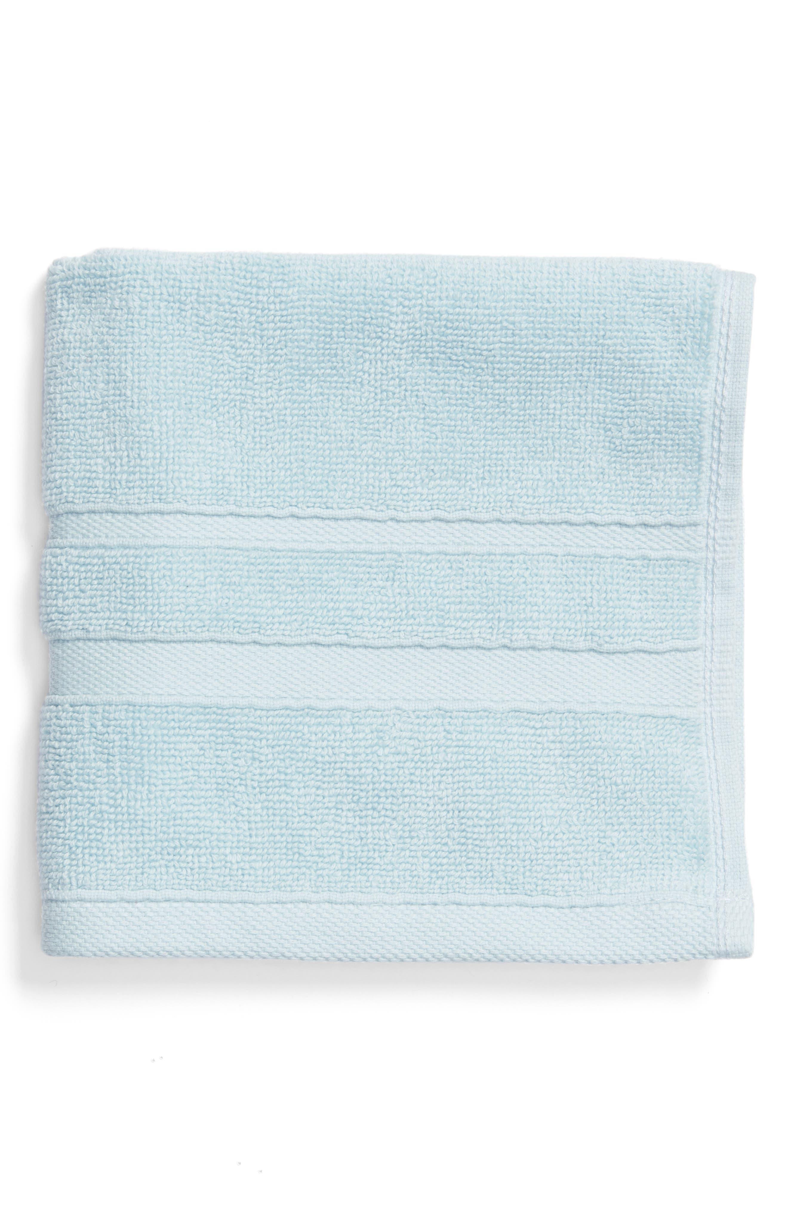 Studio 'Perennial' Combed Turkish Cotton Washcloth,                             Main thumbnail 1, color,                             Chrystal Blue
