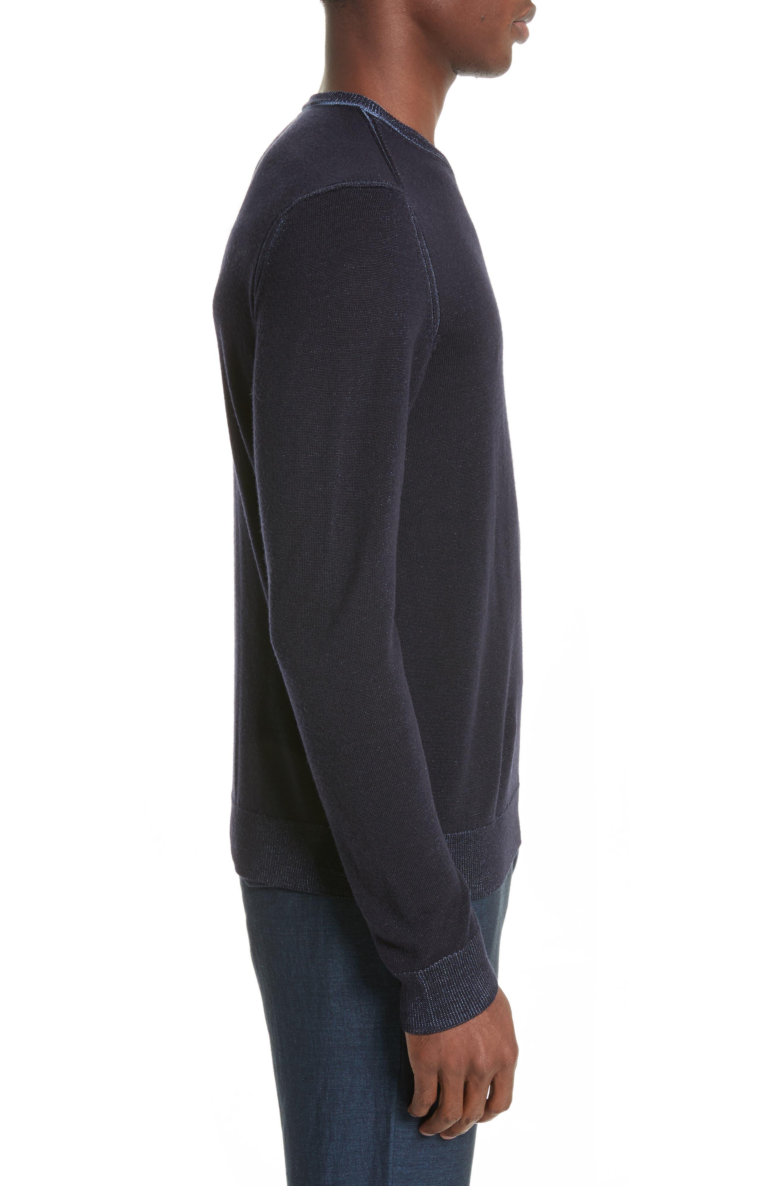 AJ V-Neck Sweater,                             Alternate thumbnail 3, color,                             Night Blue