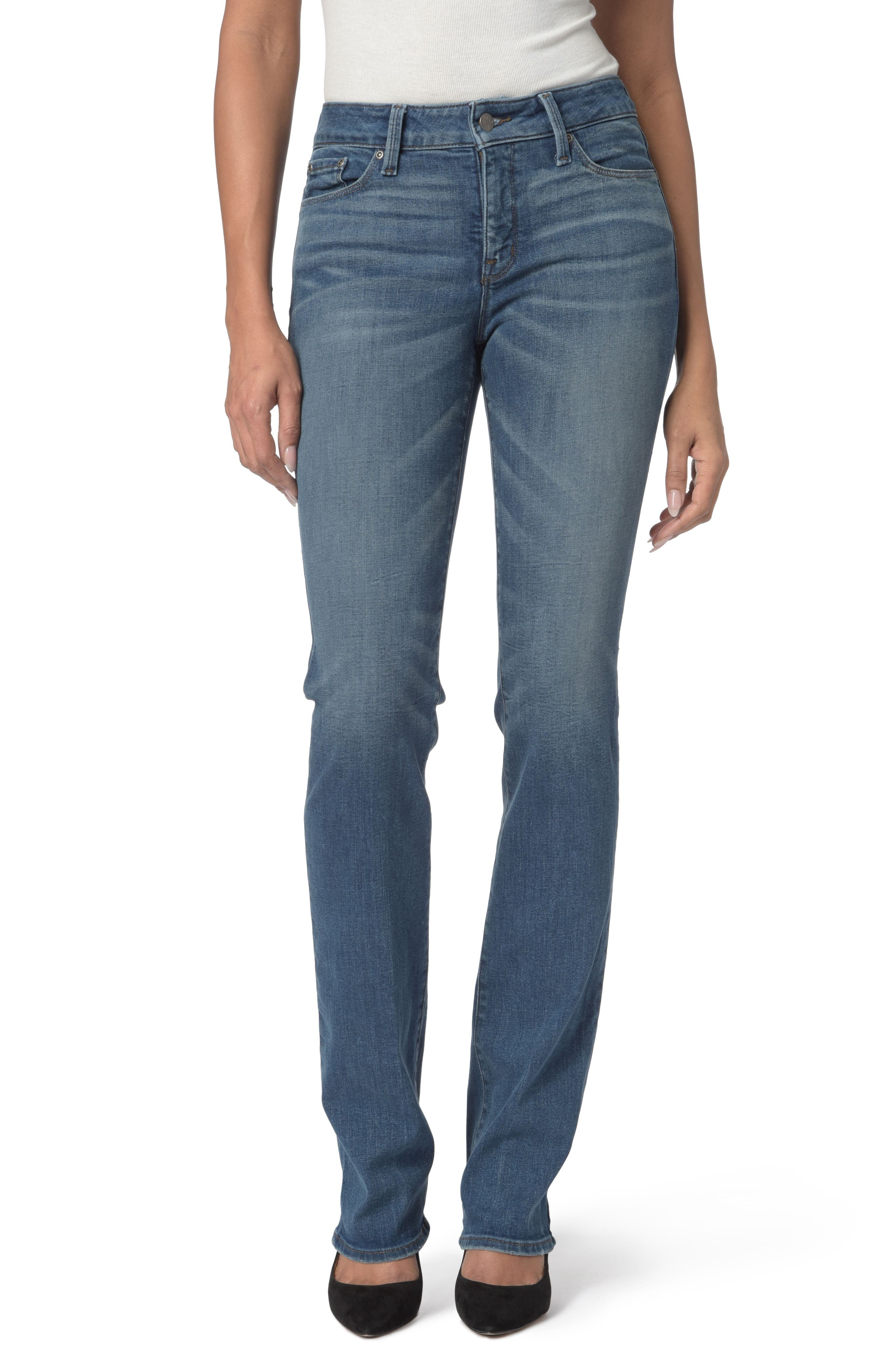 Main Image - NYDJ Marilyn Stretch Straight Leg Jeans (Regular & Petite)