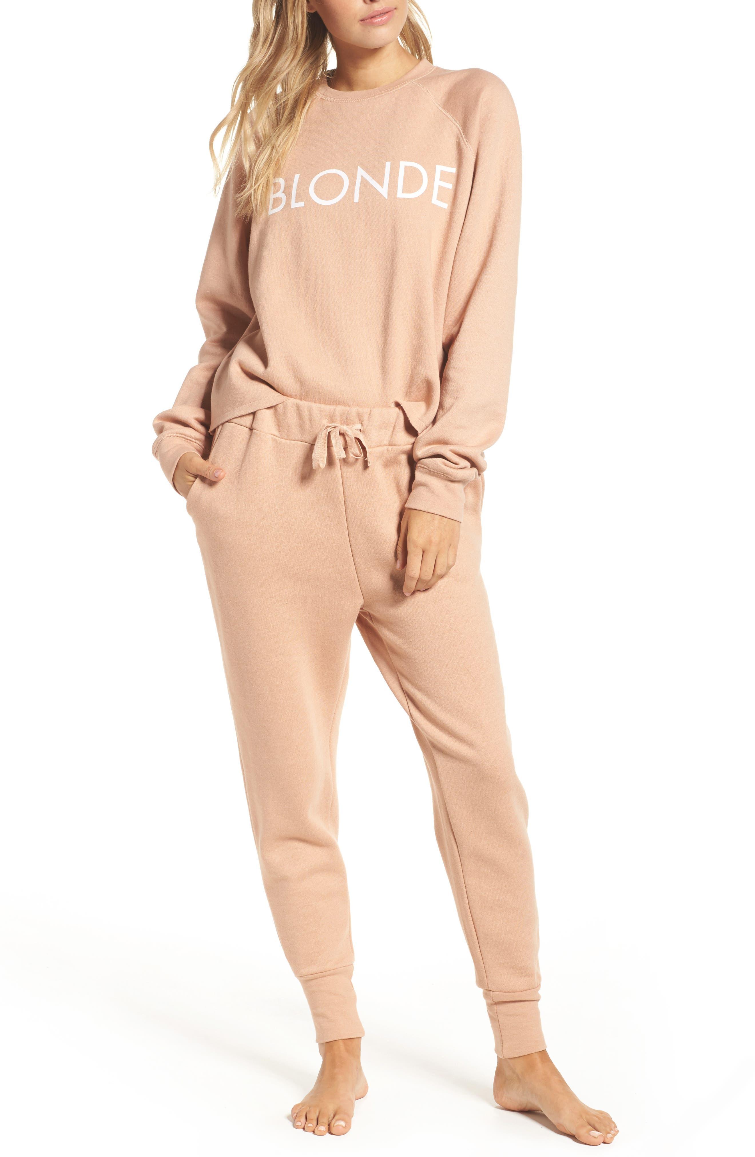 Alternate Image 5  - BRUNETTE the Label Middle Sister Blonde Sweatshirt