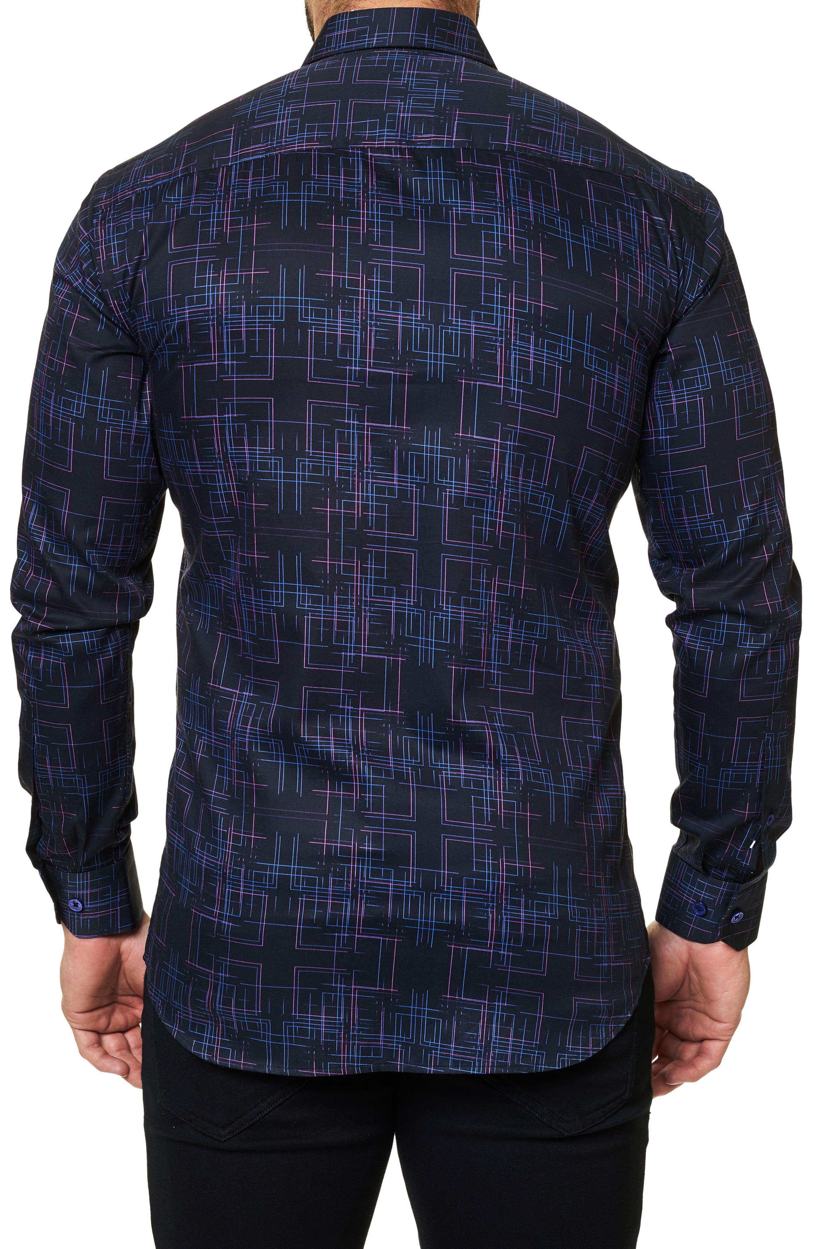 Alternate Image 2  - Maceoo Regular Fit Geo Print Sport Shirt