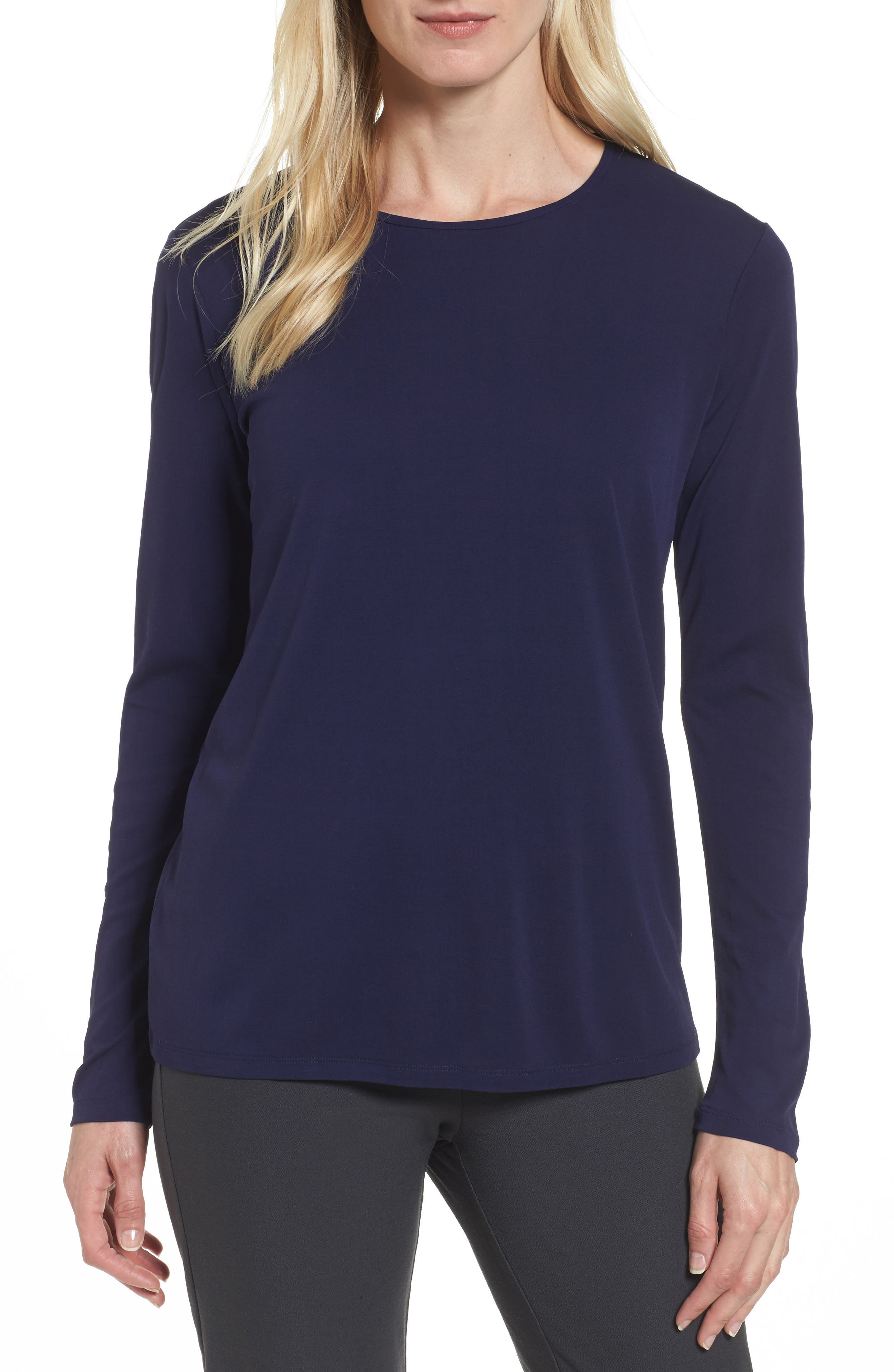 Alternate Image 1 Selected - Eileen Fisher Silk Knit Top