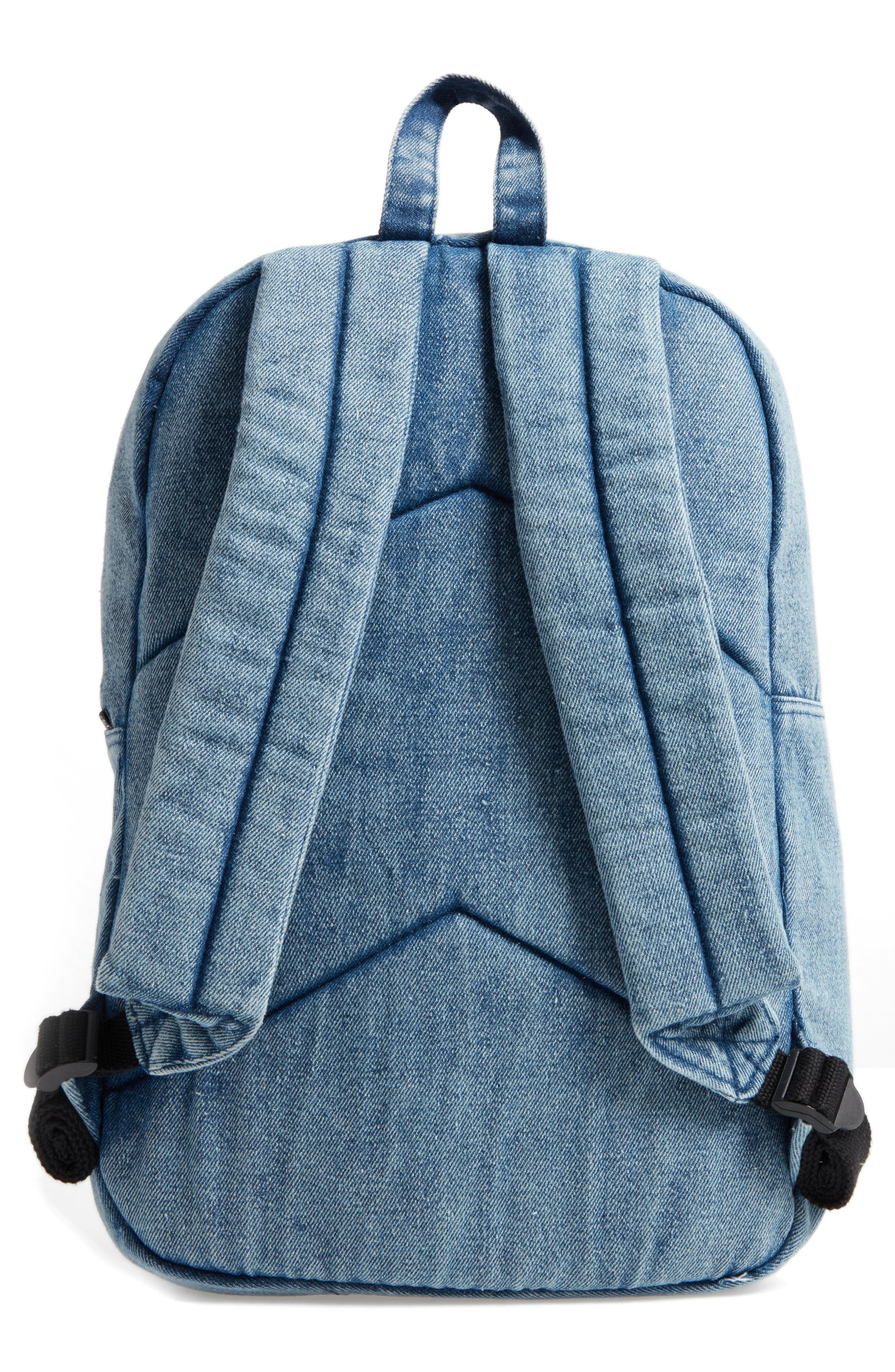 Alternate Image 2  - Loungefly Hello Kitty® Patch Denim Backpack (Kids)