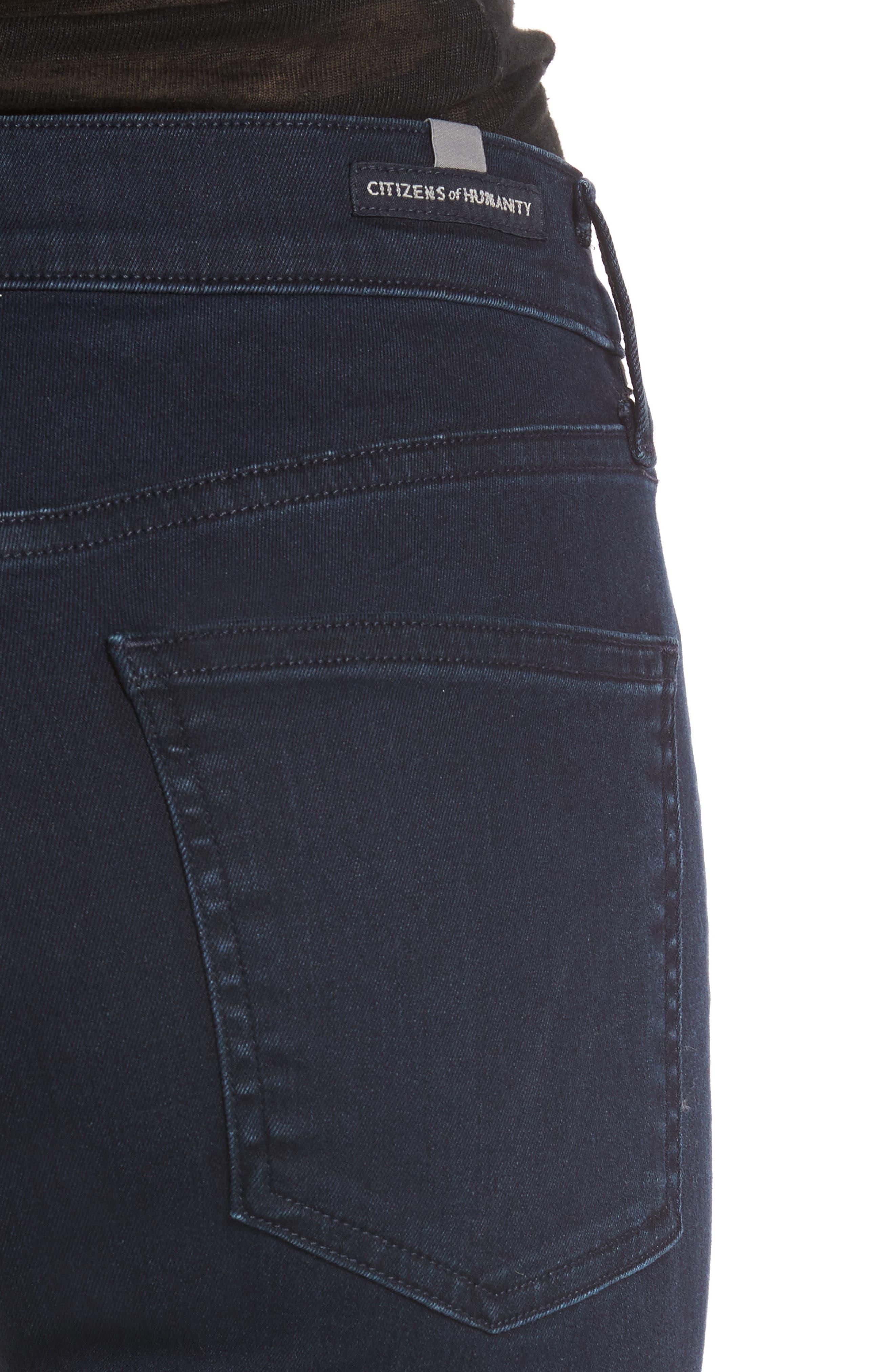 Rocket High Waist Skinny Jeans,                             Alternate thumbnail 4, color,                             Ozone Ink