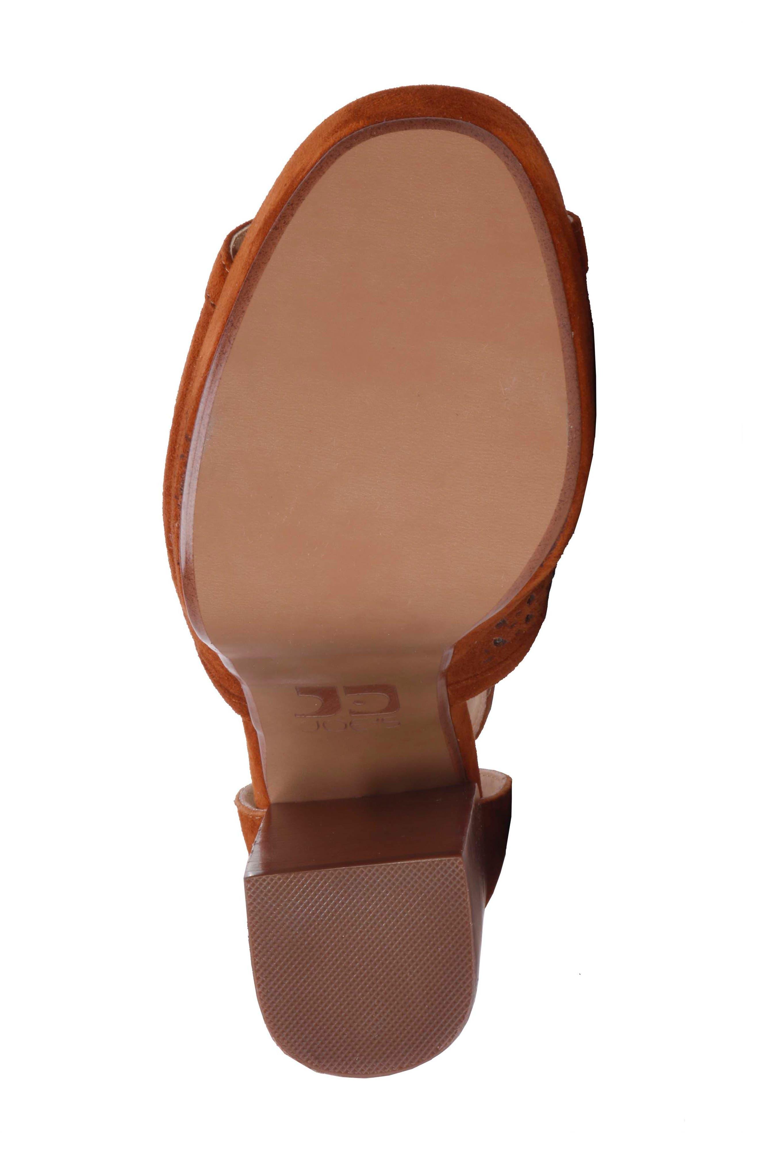 Lorne Platform Sandal,                             Alternate thumbnail 5, color,                             Camel Suede