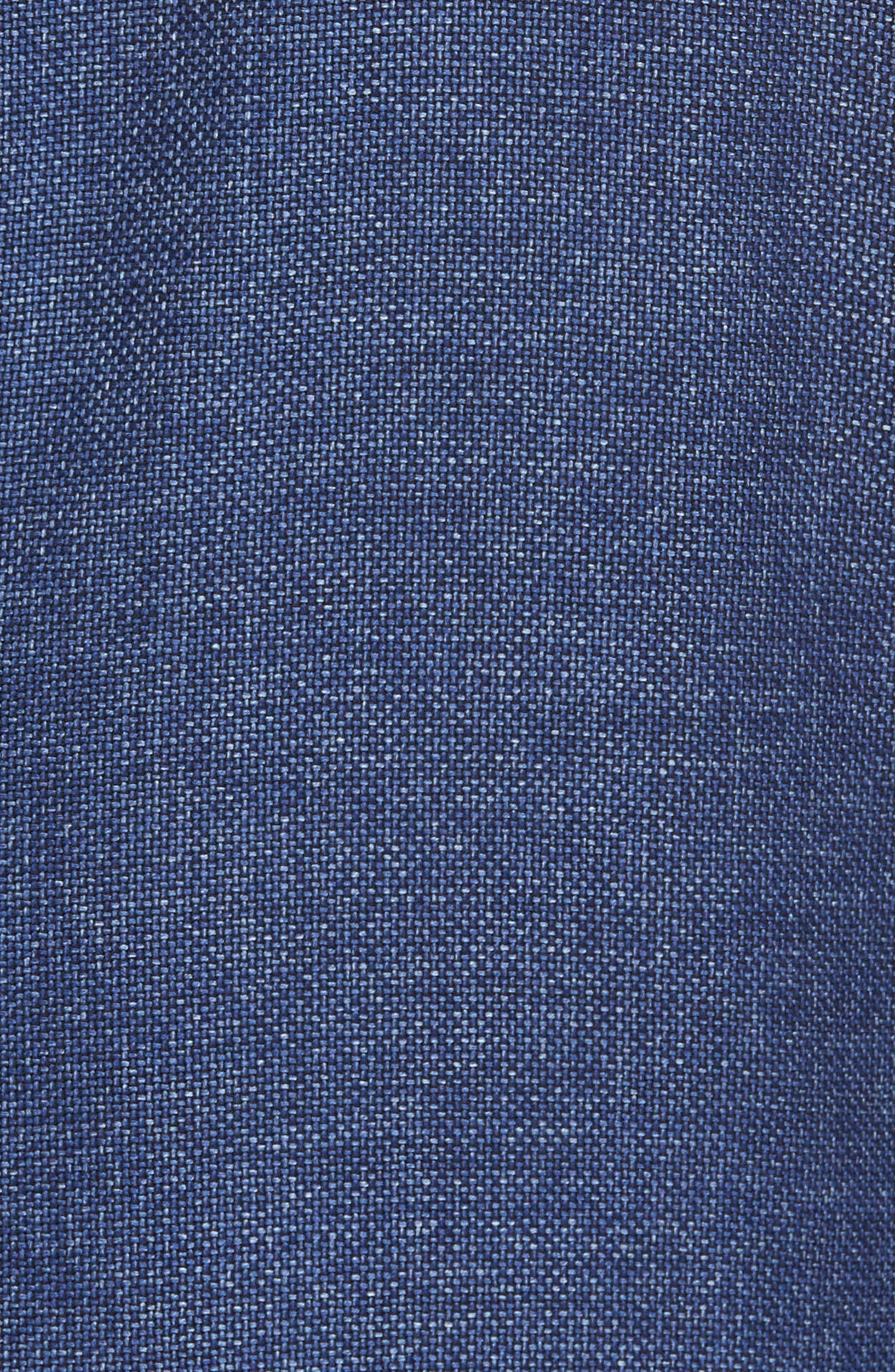 Trim Fit Wool Blazer,                             Alternate thumbnail 5, color,                             Medium Blue