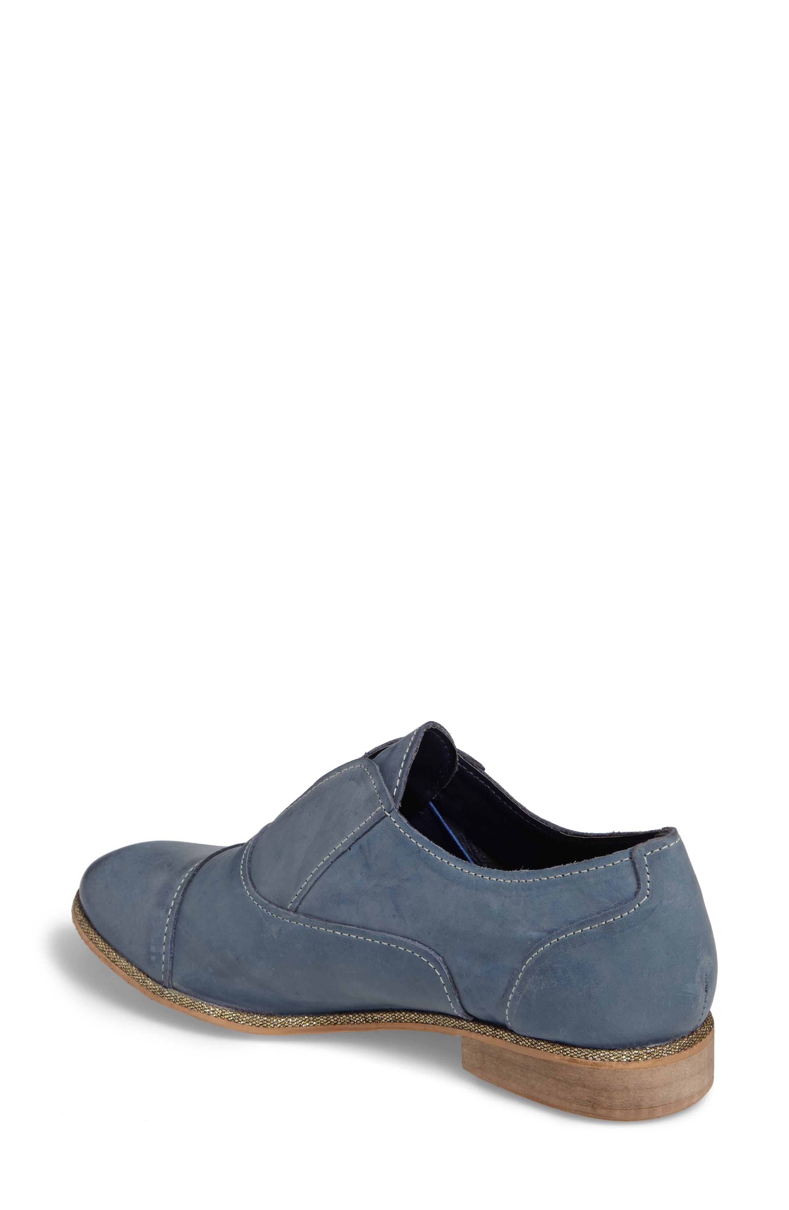 Slip Knot Loafer,                             Alternate thumbnail 2, color,                             Blue Leather