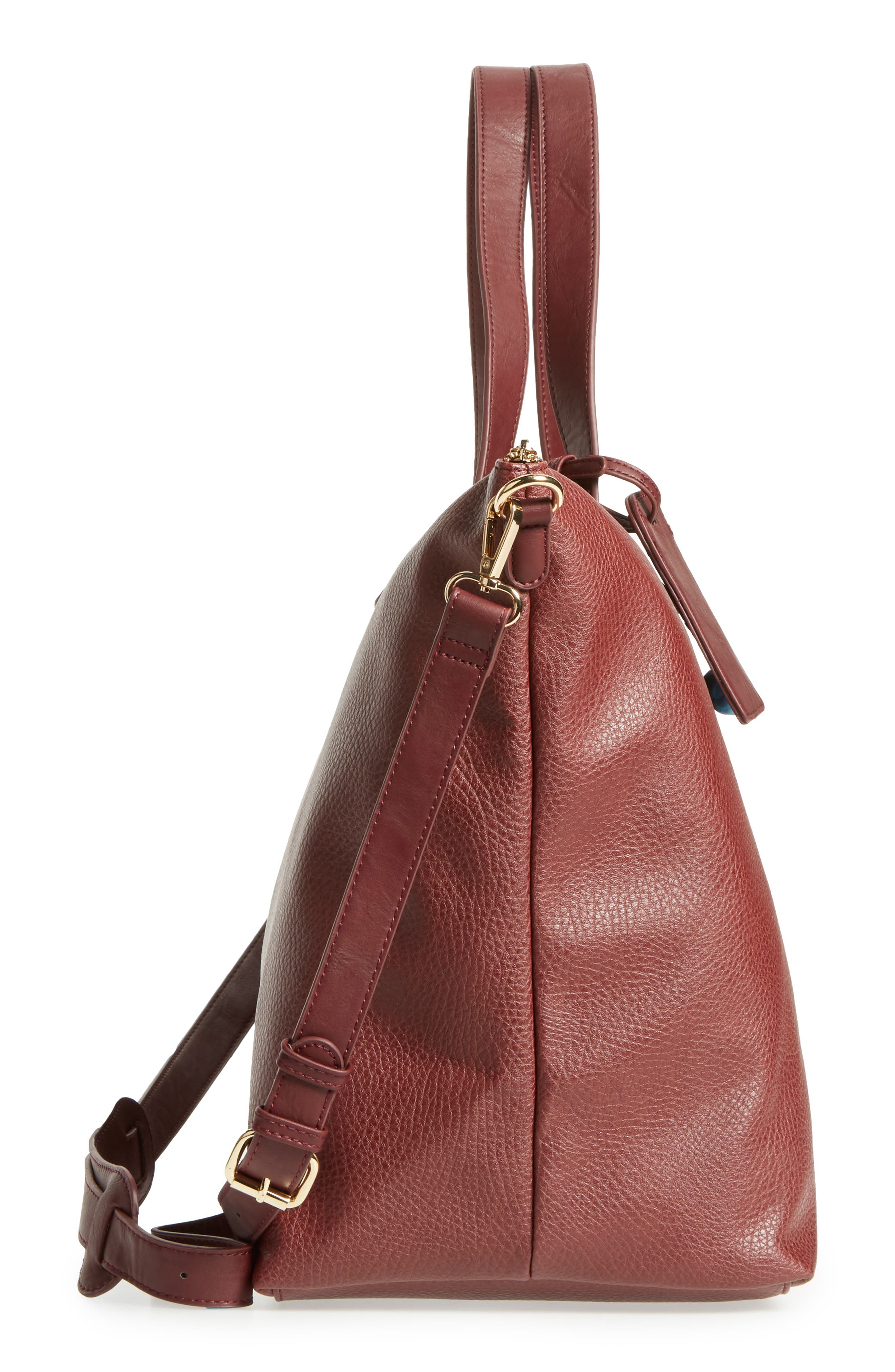 Candice Oversize Travel Tote,                             Alternate thumbnail 3, color,                             Oxblood