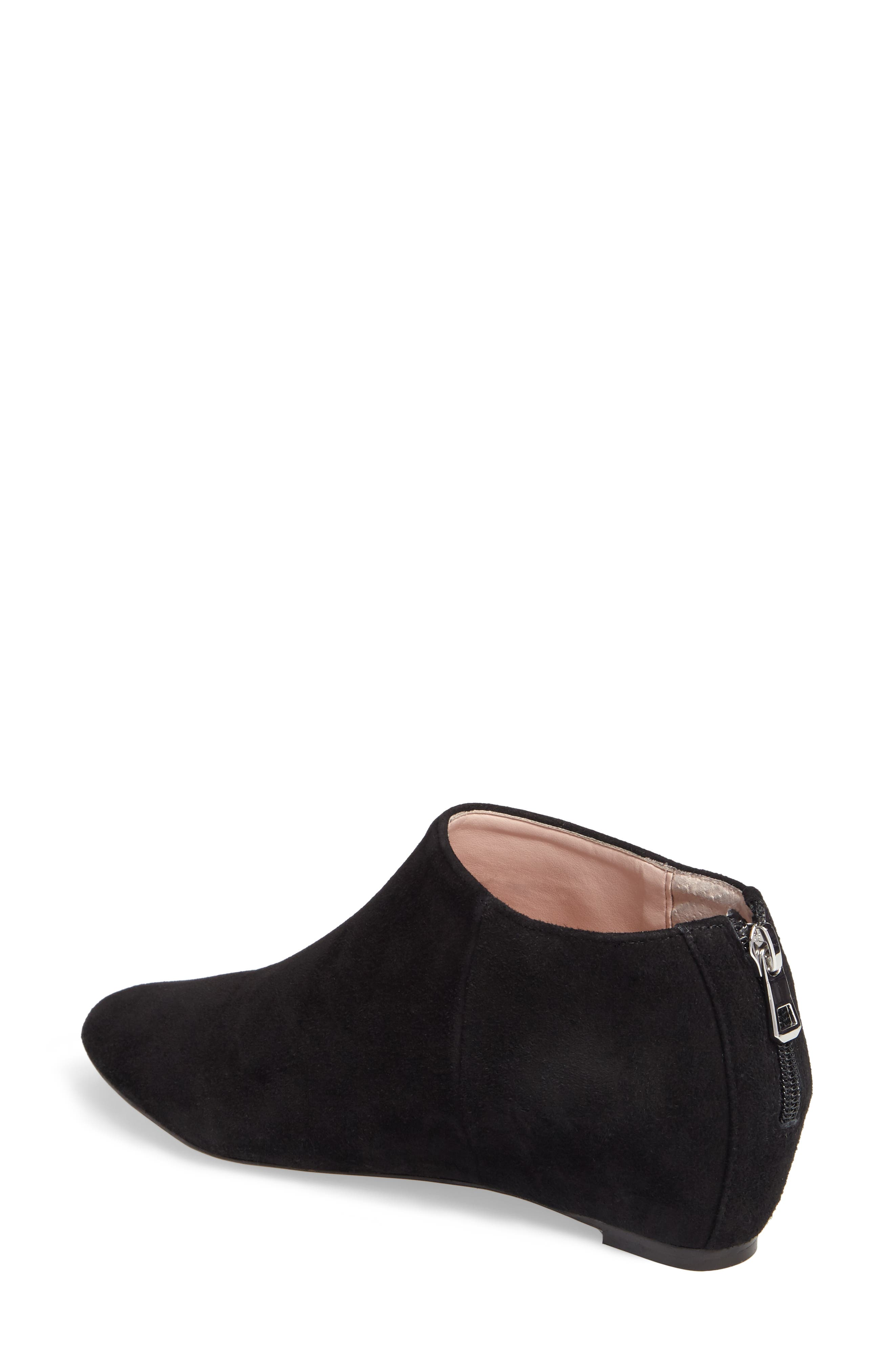 Aves Les Filles Beatrice Ankle Boot,                             Alternate thumbnail 2, color,                             Black Suede