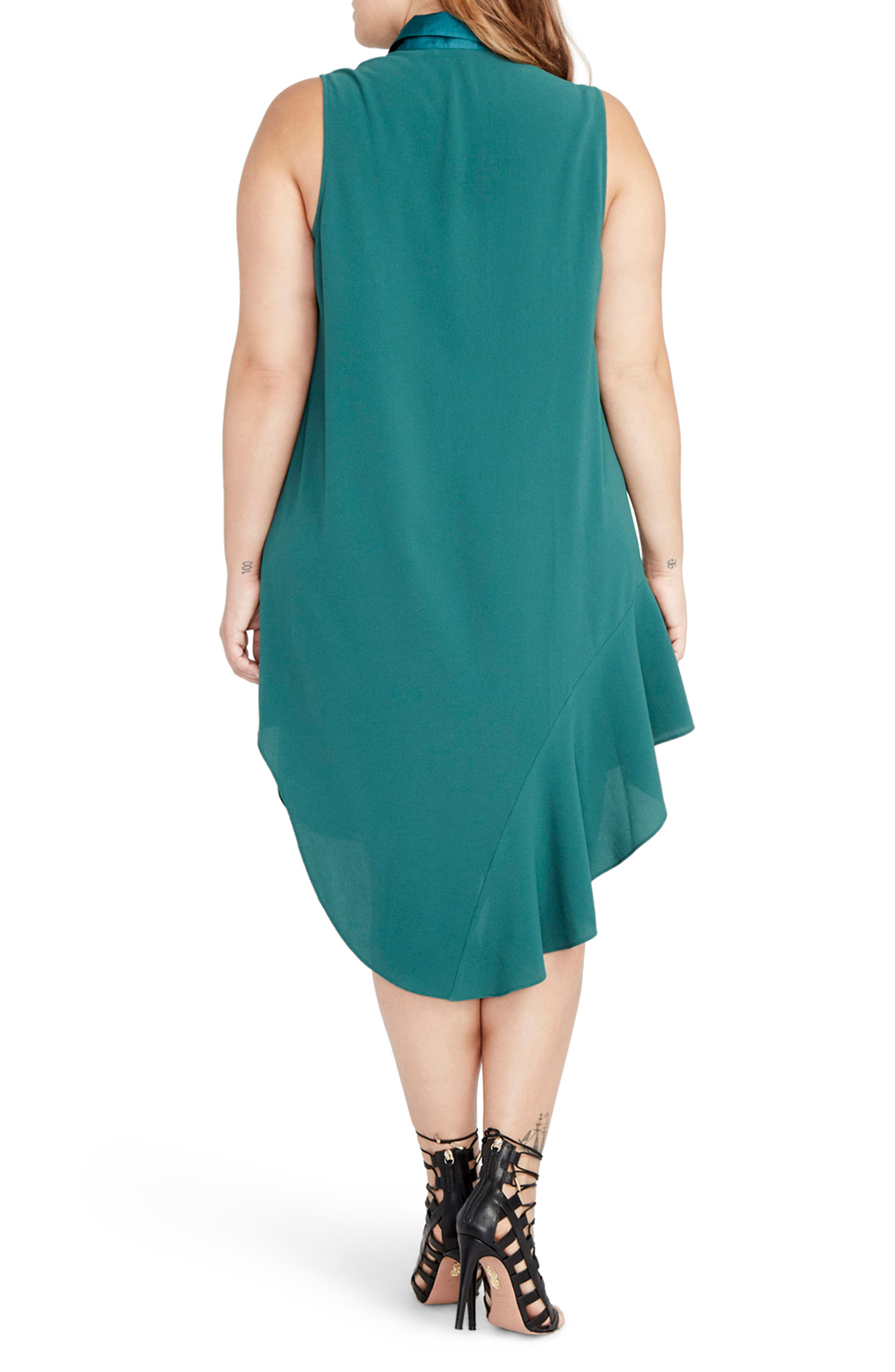 Combo Shirtdress,                             Alternate thumbnail 2, color,                             Viridian Green