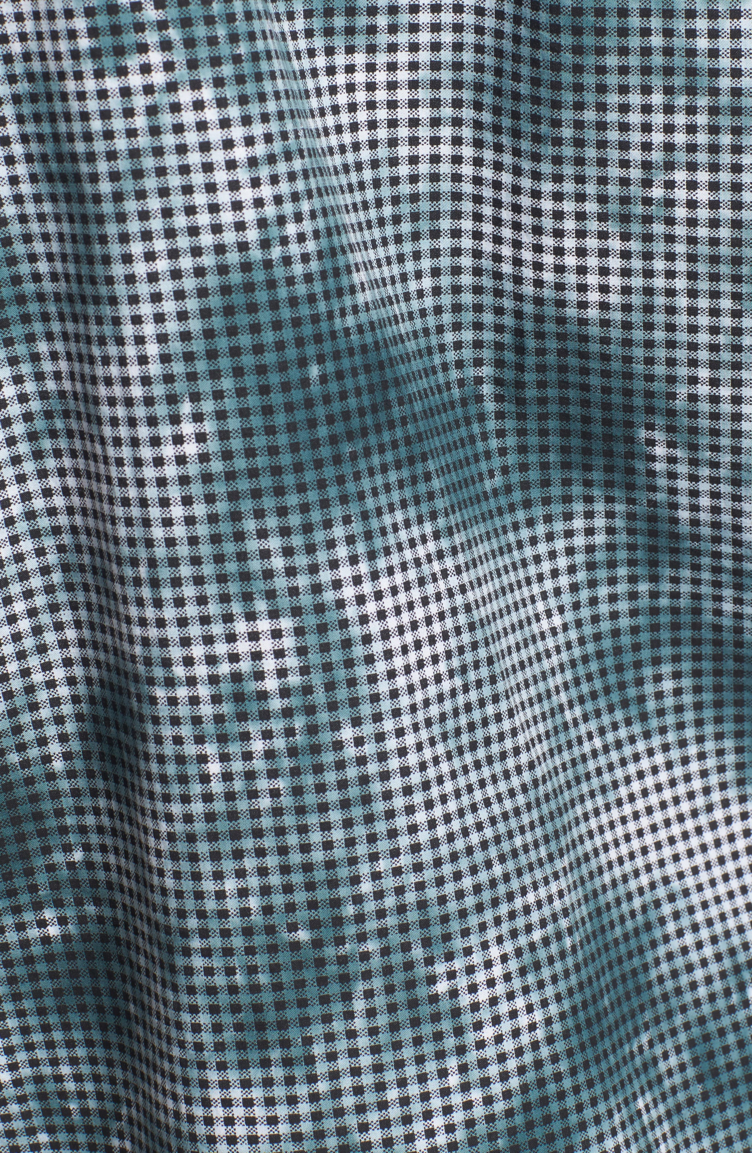 Tie Dye Check Shirt,                             Alternate thumbnail 5, color,                             Arona Blue