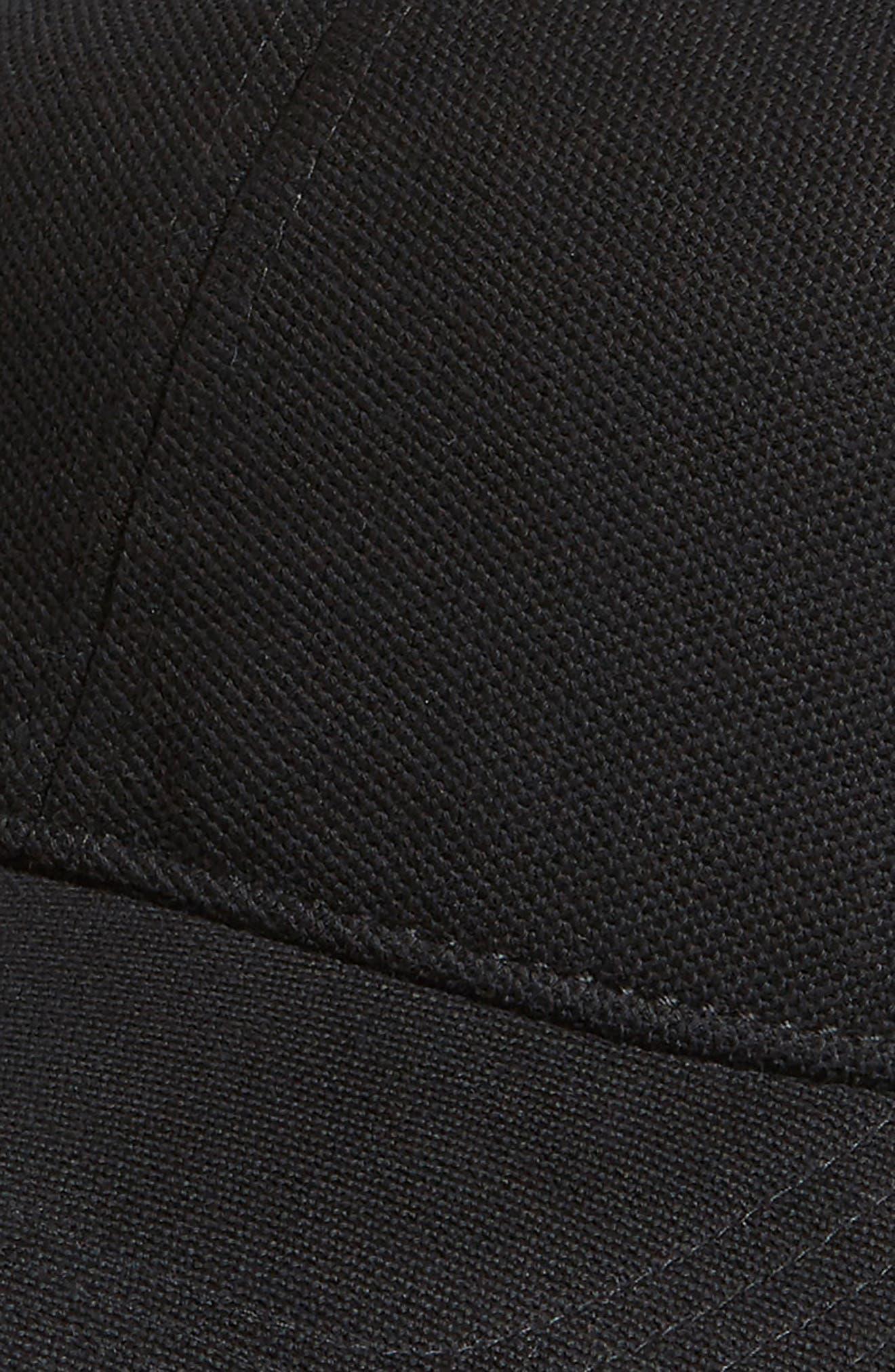 Croc Cotton Baseball Cap,                             Alternate thumbnail 3, color,                             Black