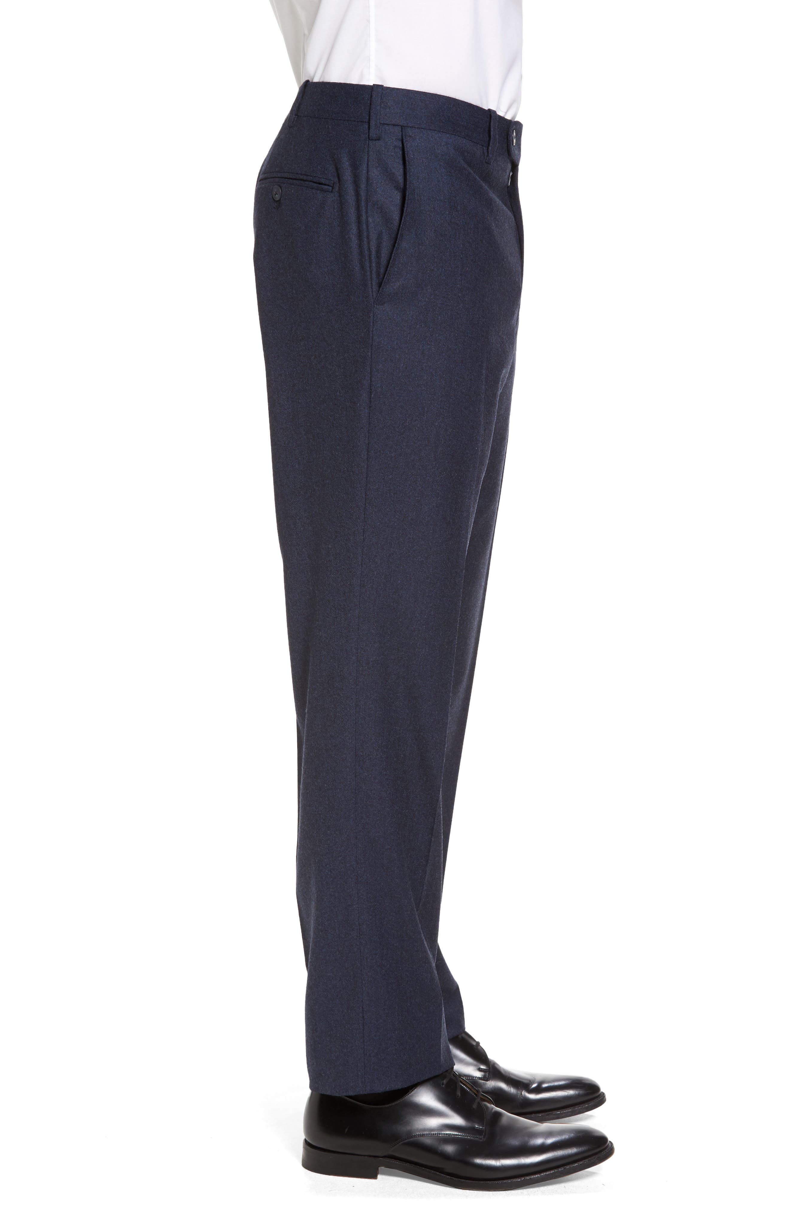 Alternate Image 3  - JB Britches Flat Front Solid Wool & Cashmere Trousers