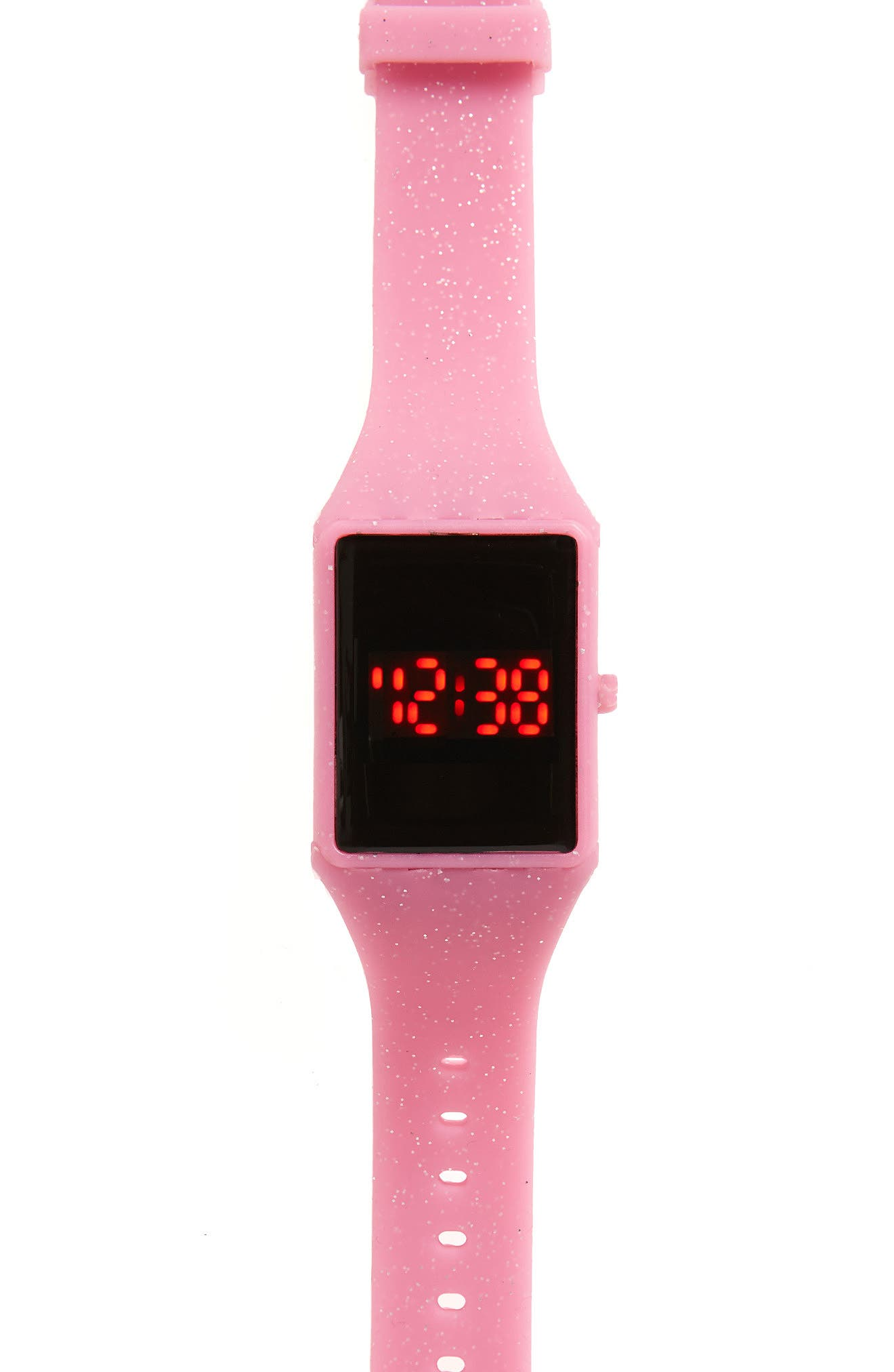 Touchscreen LED Watch,                         Main,                         color, Pink Glitter