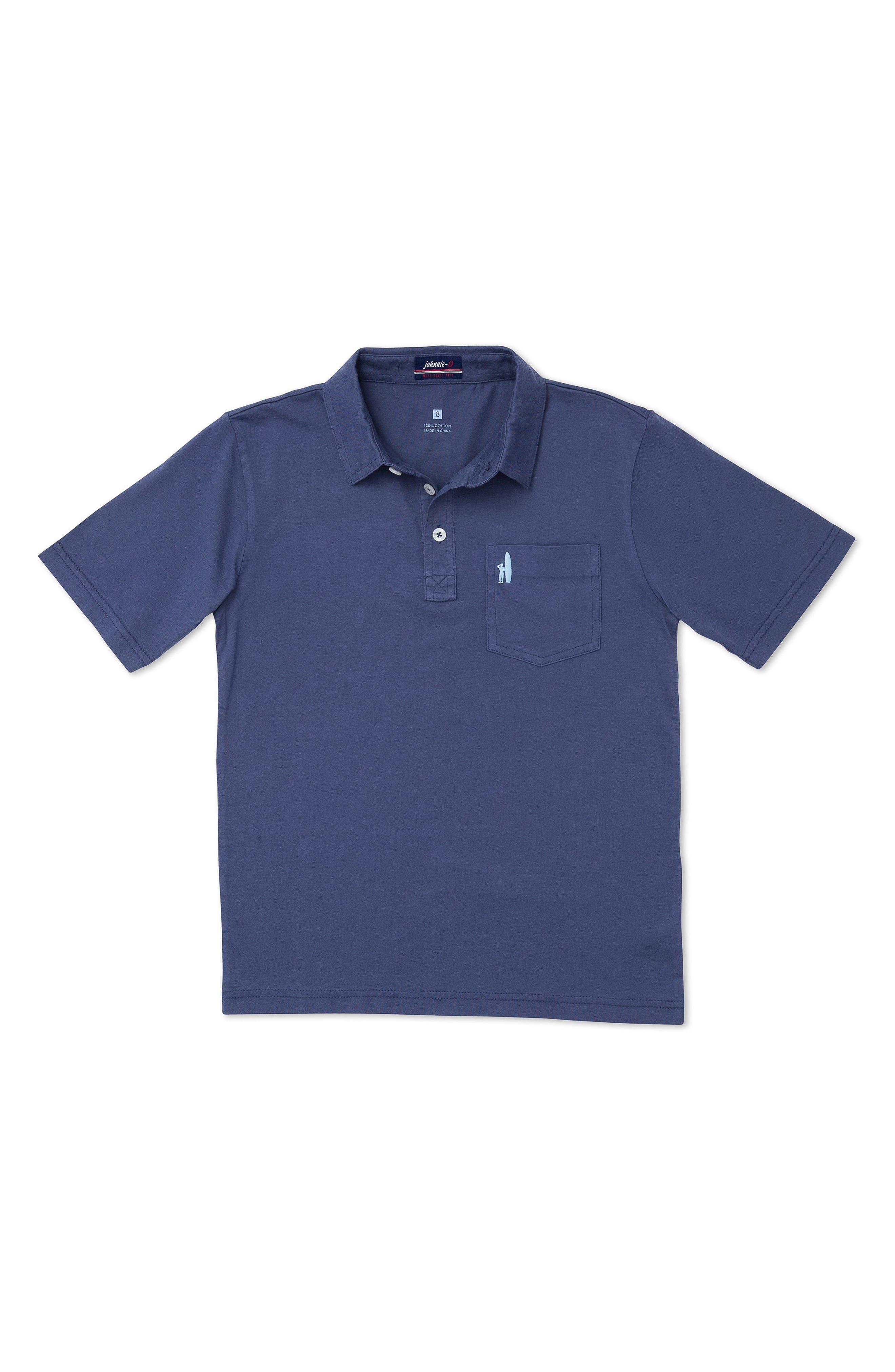 Original Solid Pocket Polo,                         Main,                         color, Navy