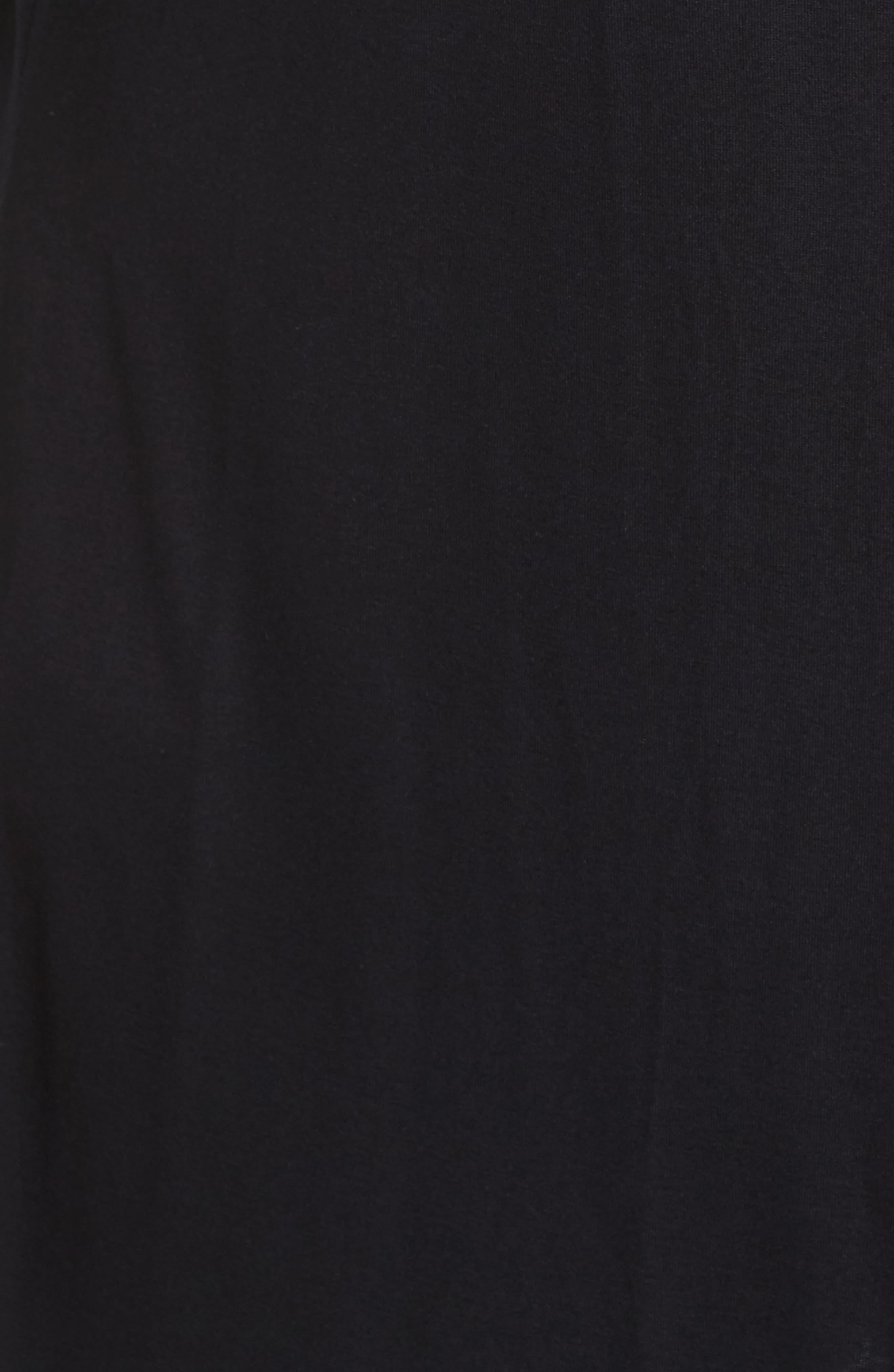 Waterfall Drape Front Cardigan,                             Alternate thumbnail 6, color,                             Black