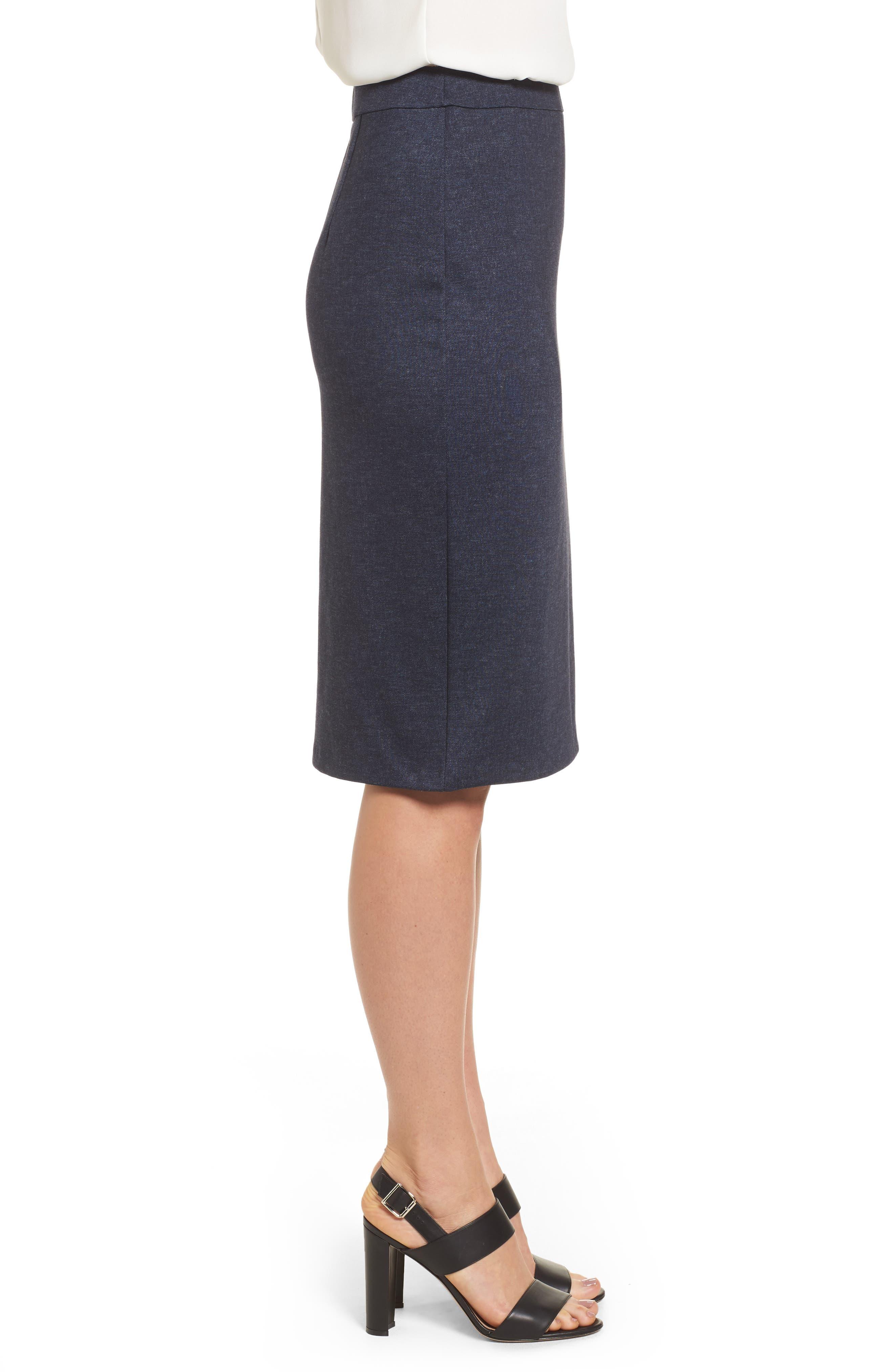 Alternate Image 5  - Halogen® Knit Pencil Skirt (Regular & Petite)