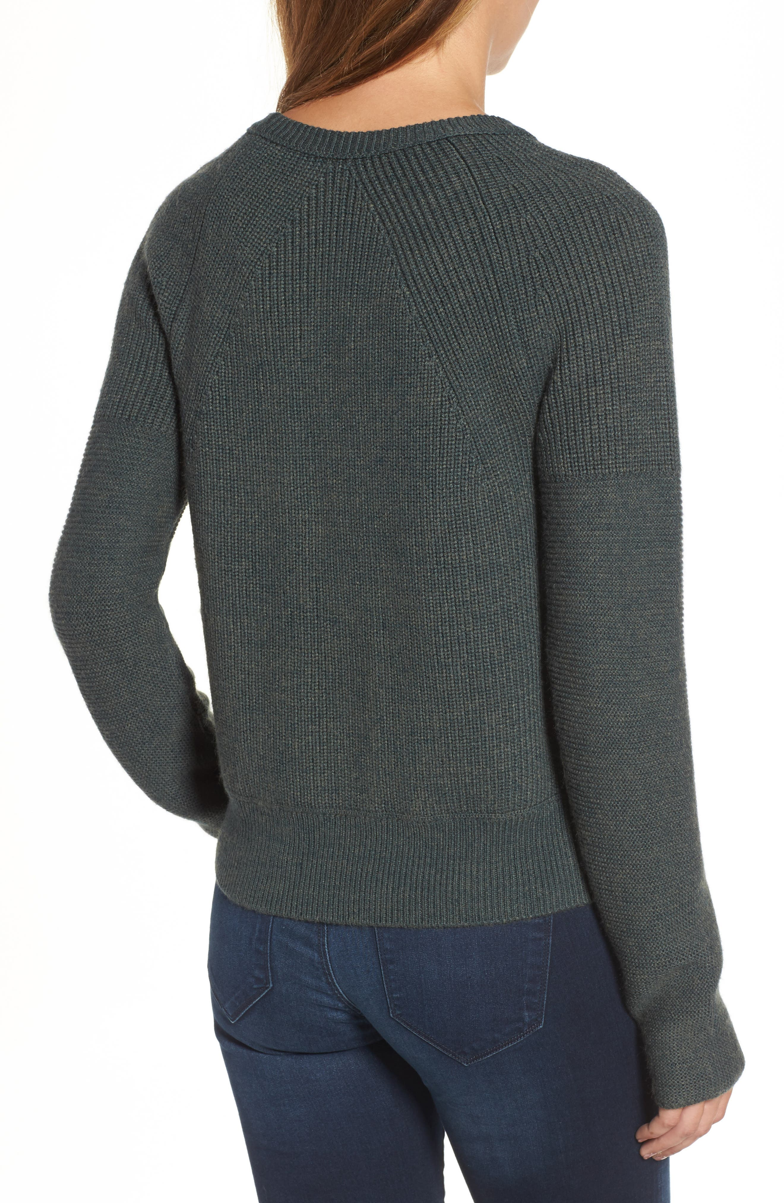 Engineered Stitch Sweater,                             Alternate thumbnail 3, color,                             Military