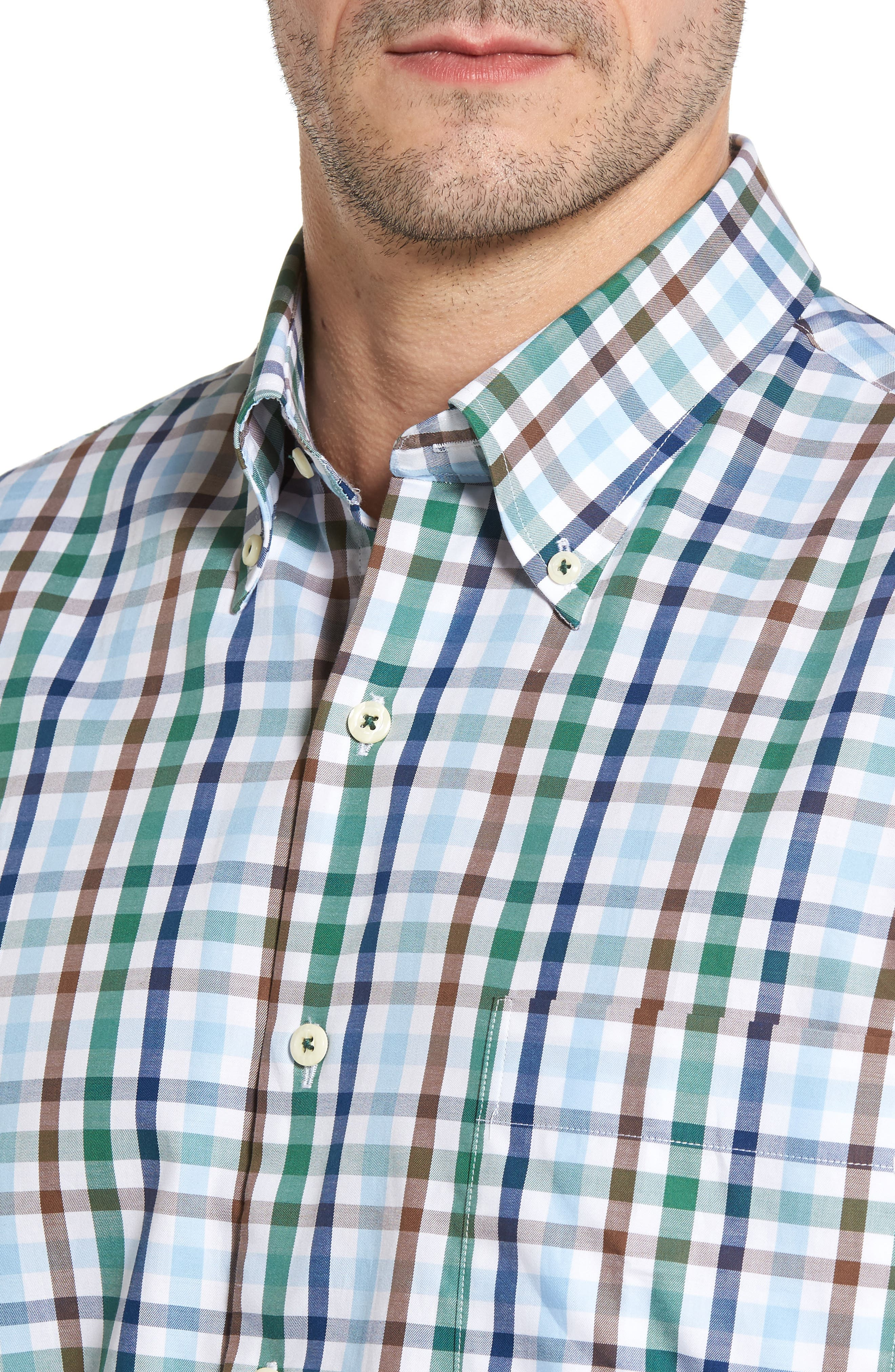 Alternate Image 4  - Peter Millar Trail Check Sport Shirt