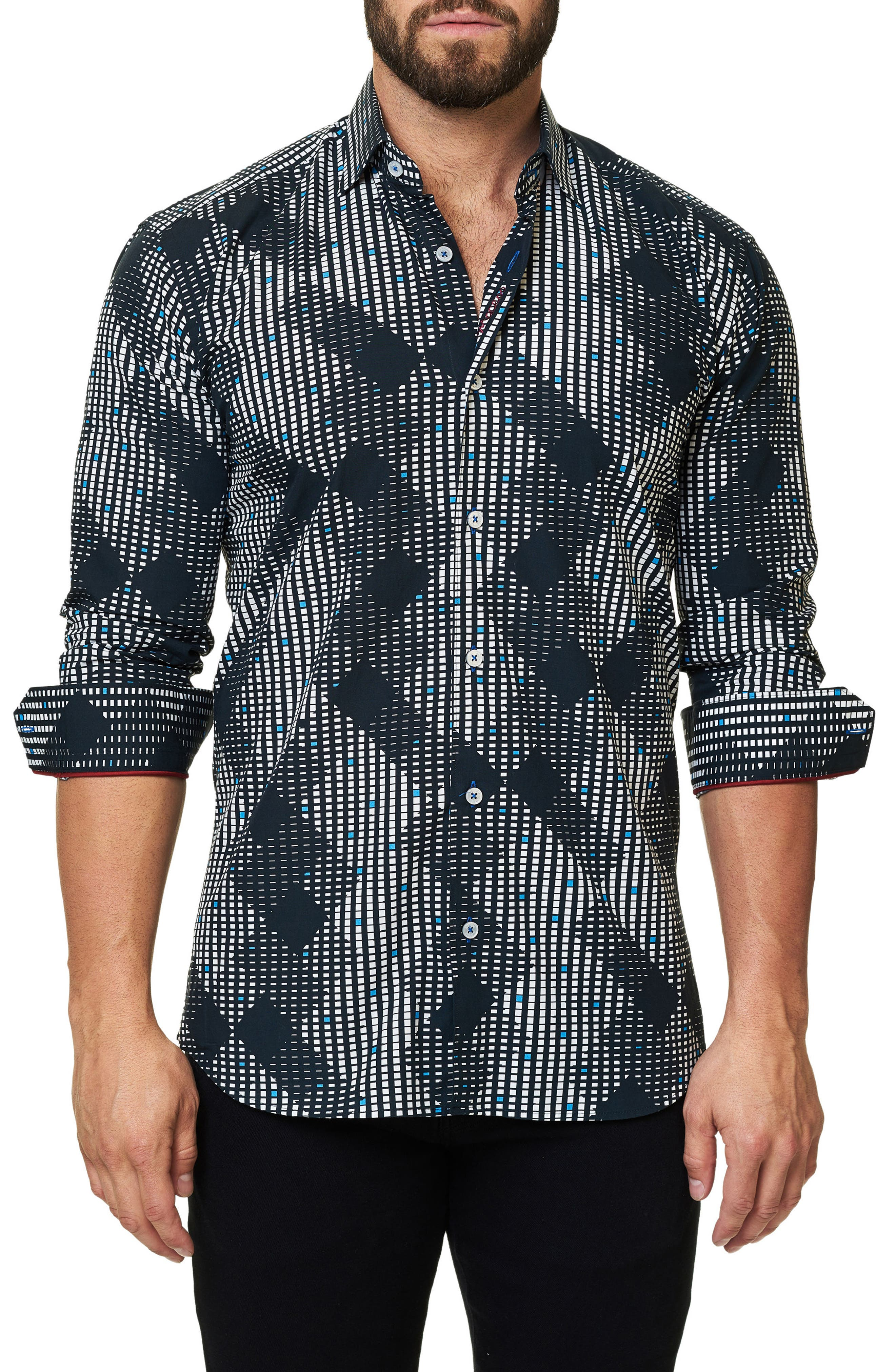 Alternate Image 1 Selected - Maceoo Trim Fit Print Sport Shirt