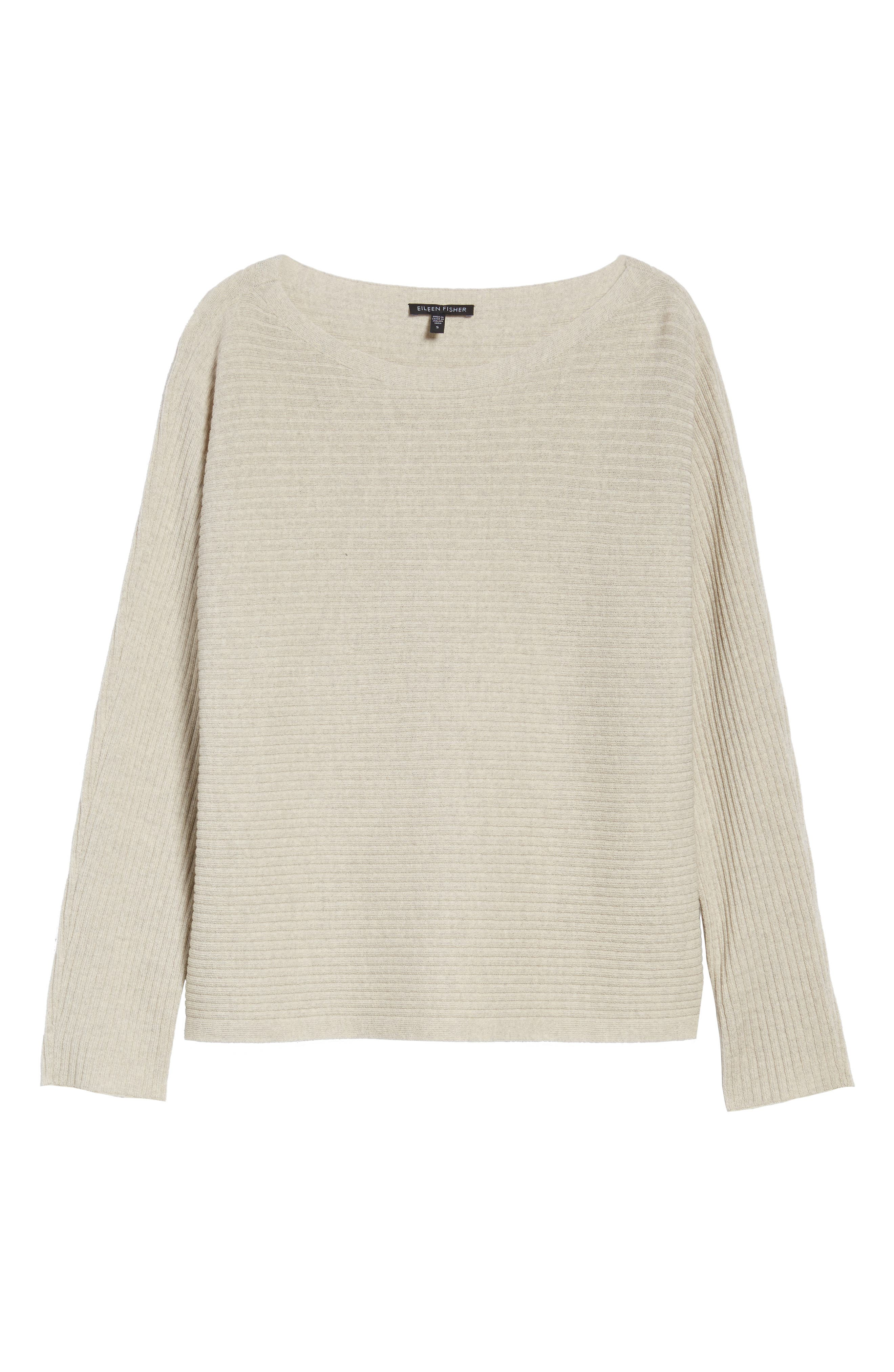 Alternate Image 6  - Eileen Fisher Boxy Ribbed Wool Sweater