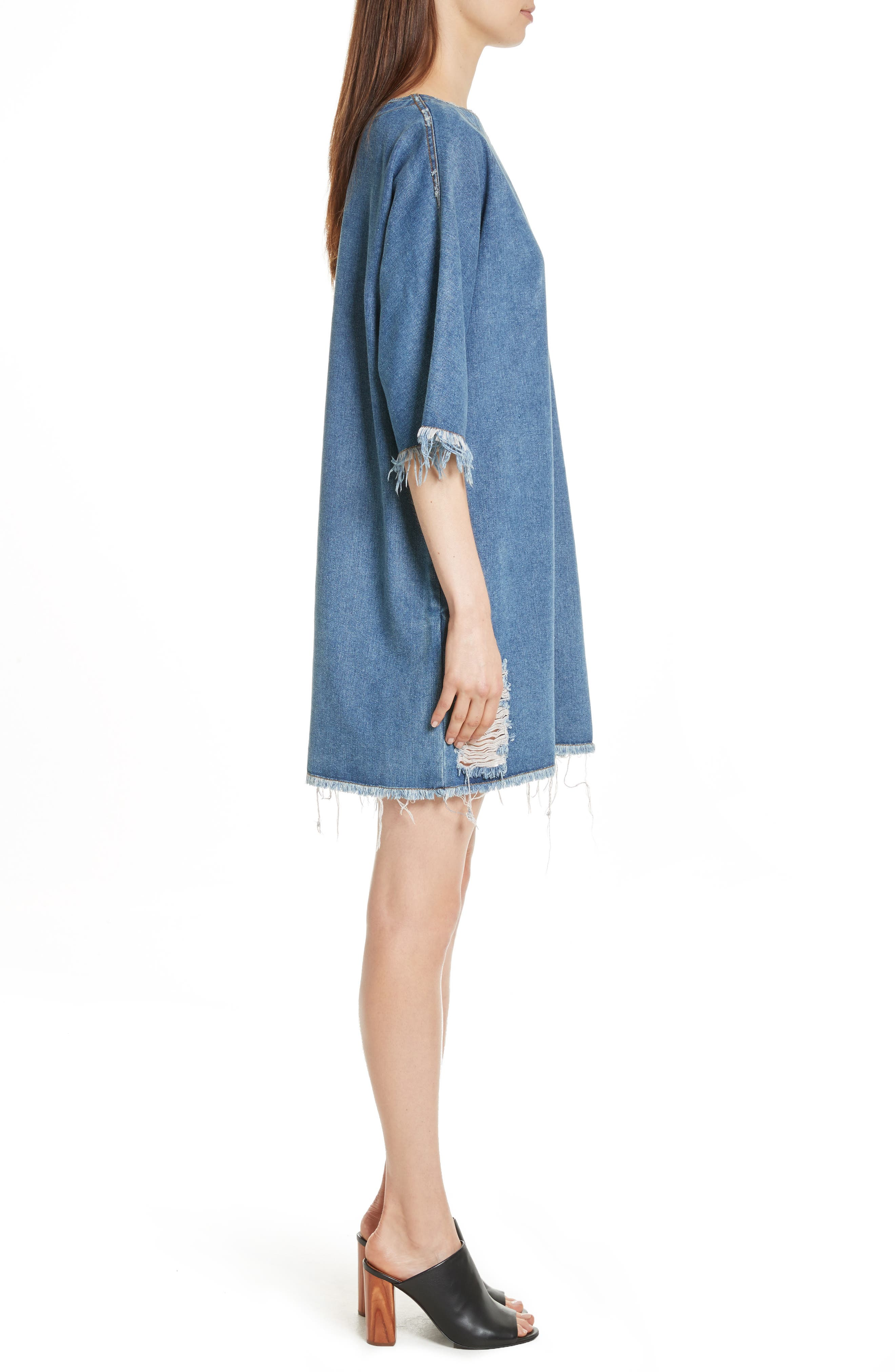 Alternate Image 3  - Robert Rodriguez Distressed Denim Dress