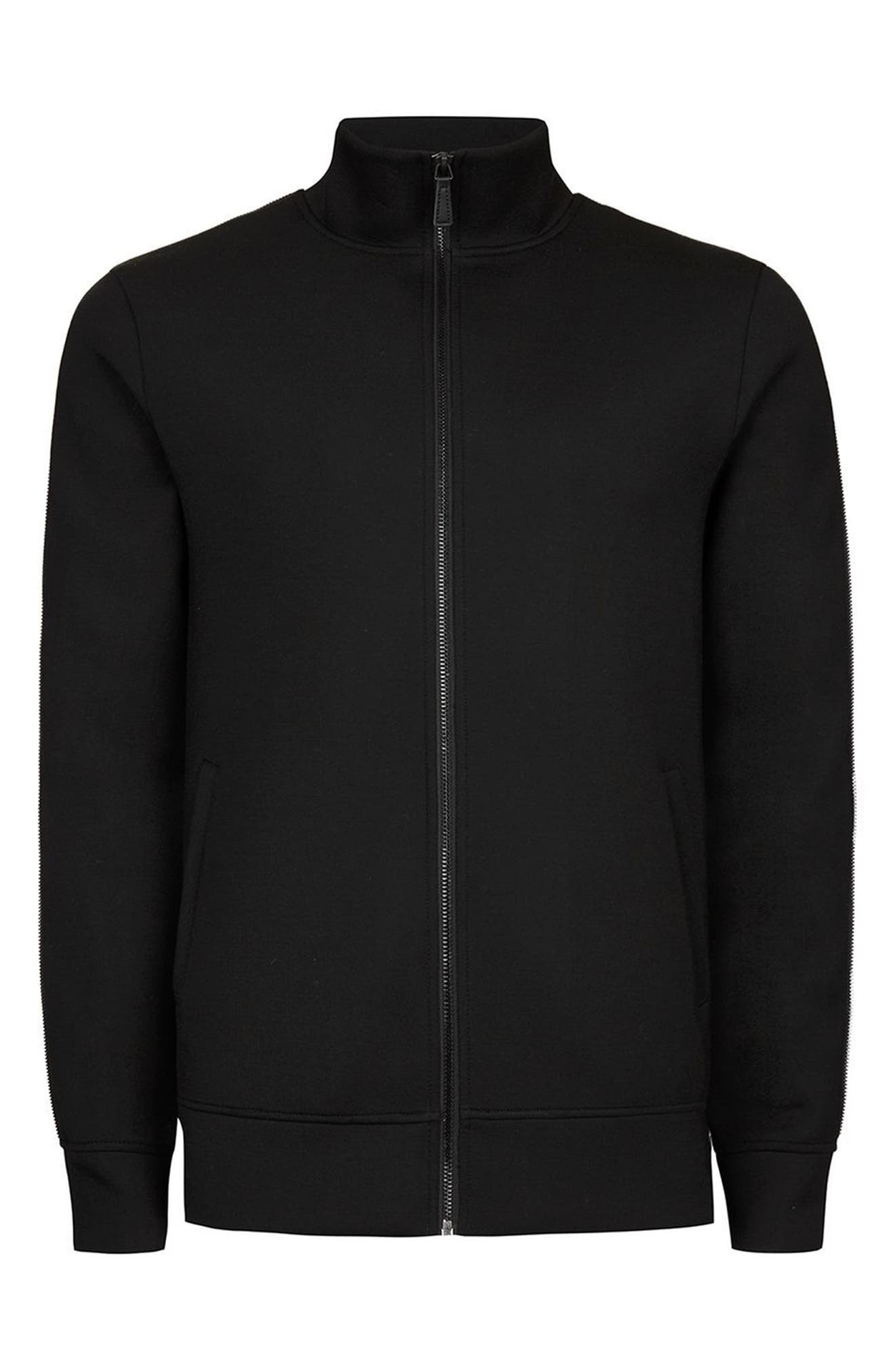AAA Collection Zip Track Jacket,                             Alternate thumbnail 4, color,                             Black