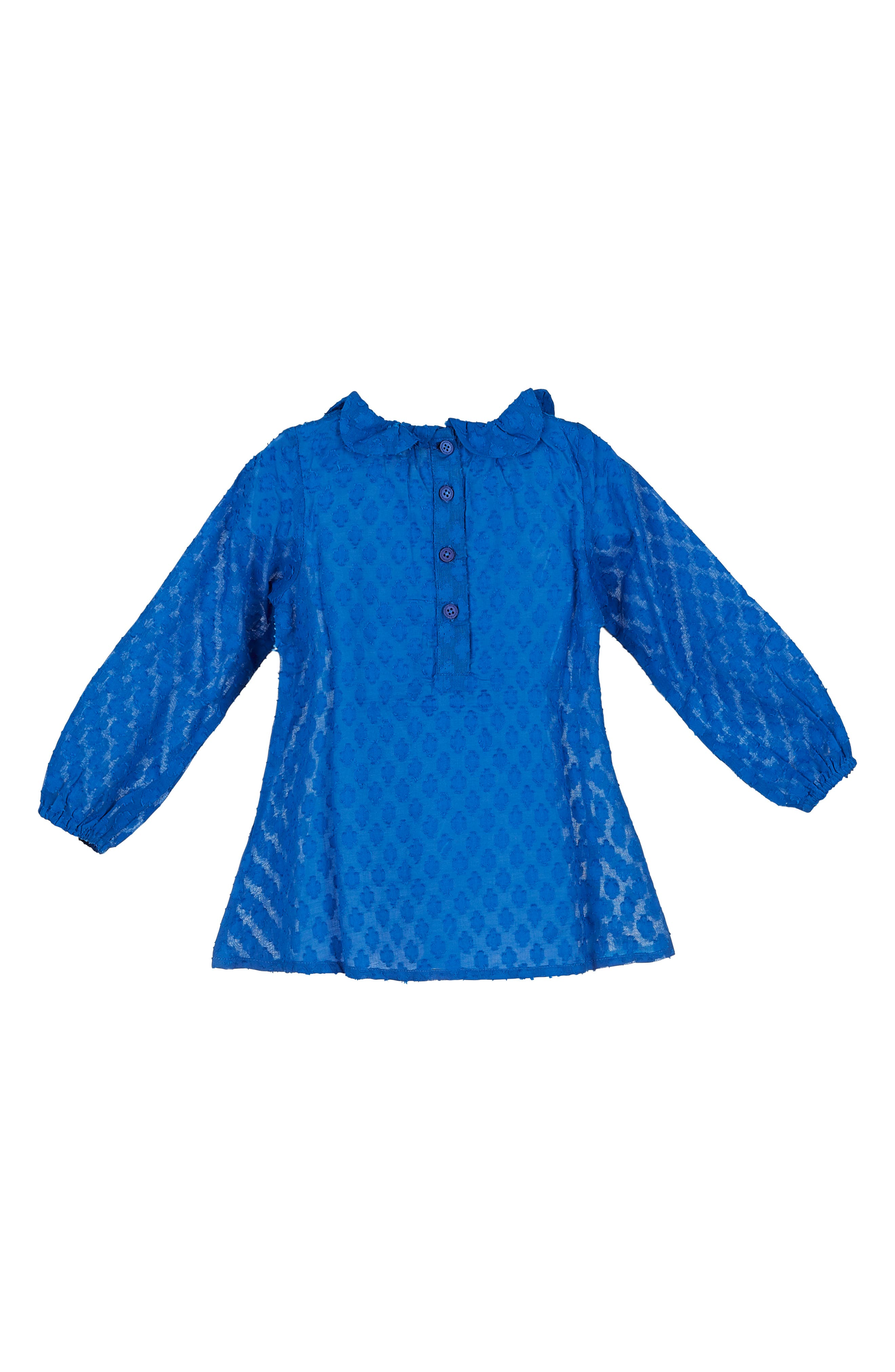 Daisy Petal Collar Dobby Top,                             Alternate thumbnail 2, color,                             Blue
