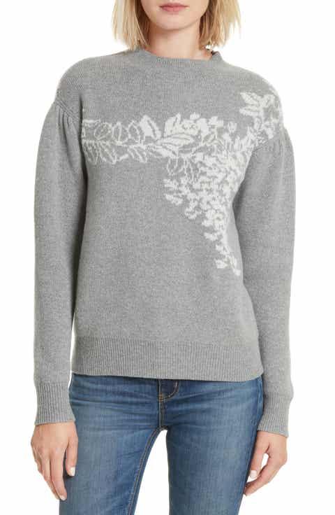 Rebecca Taylor Jacquard Floral Pullover
