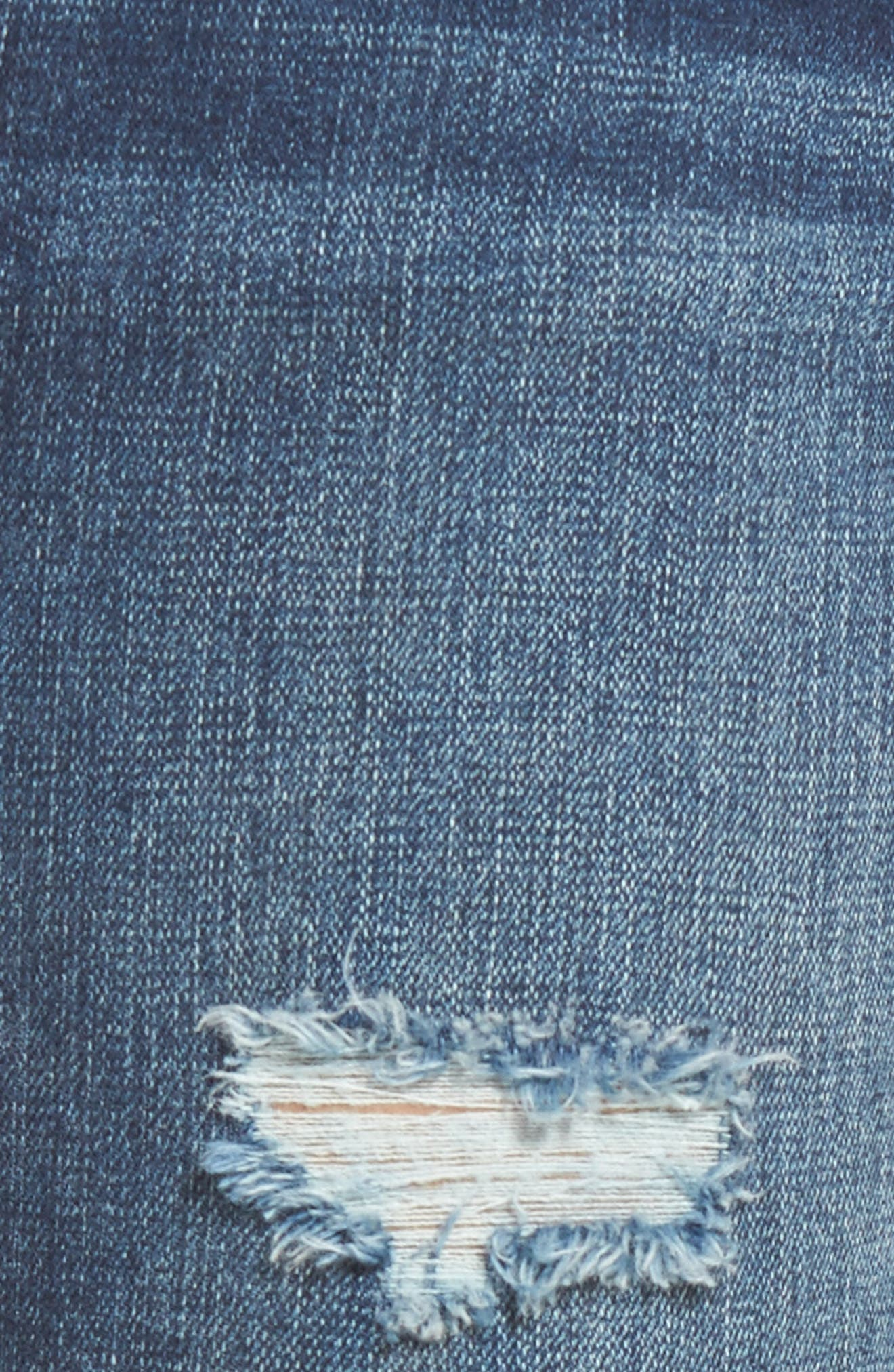 Alternate Image 5  - SLINK Jeans Distressed Ankle Skinny Jeans (Lysa)