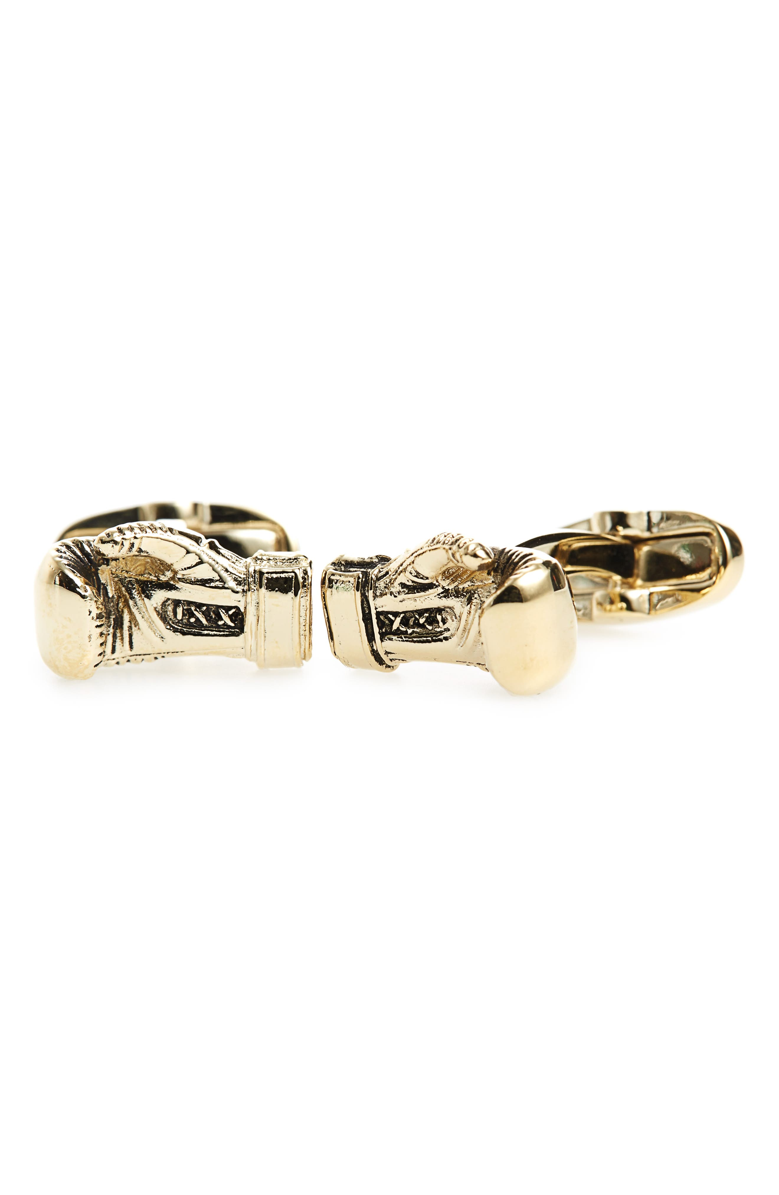 Boxing Glove Cuff Links,                         Main,                         color, Gold