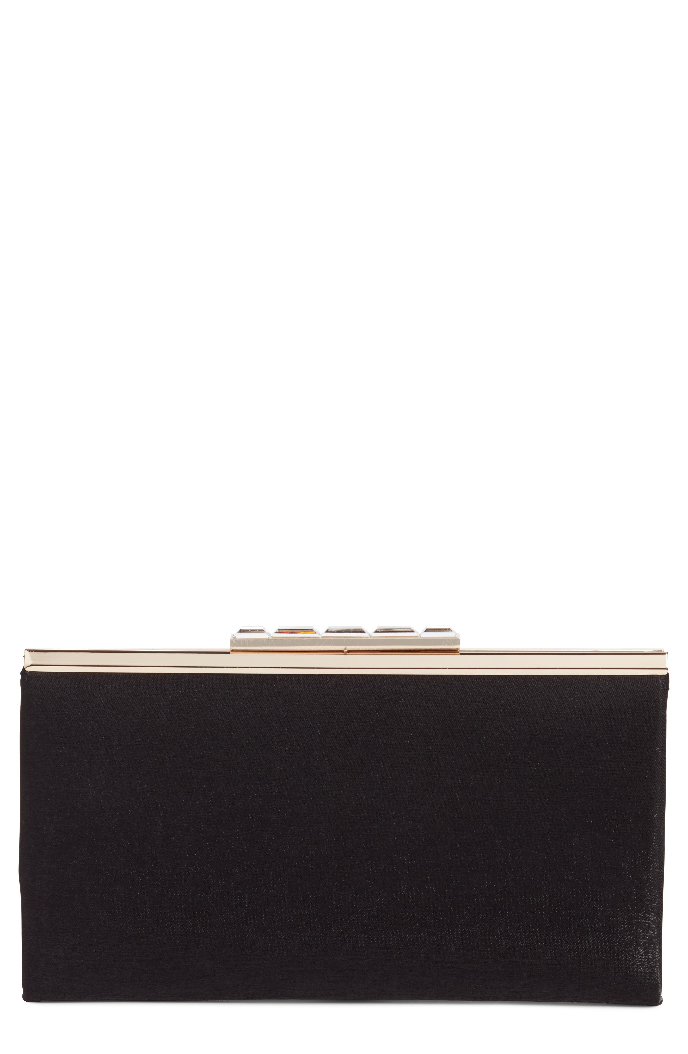 Main Image - Nordstrom Crystal Clasp Shimmer Clutch