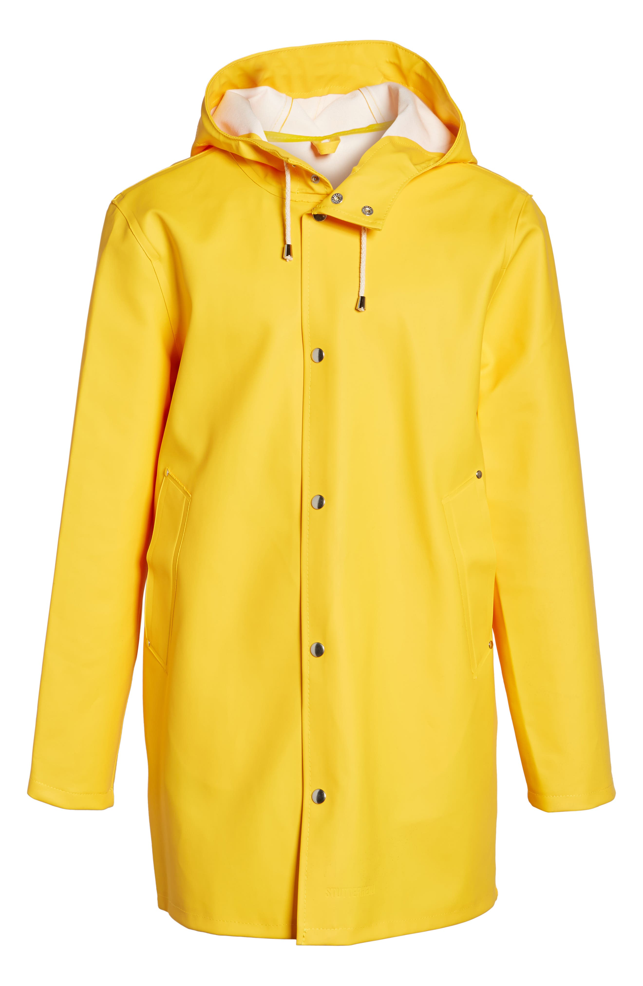 Stockholm Waterproof Hooded Raincoat,                             Alternate thumbnail 5, color,                             Yellow