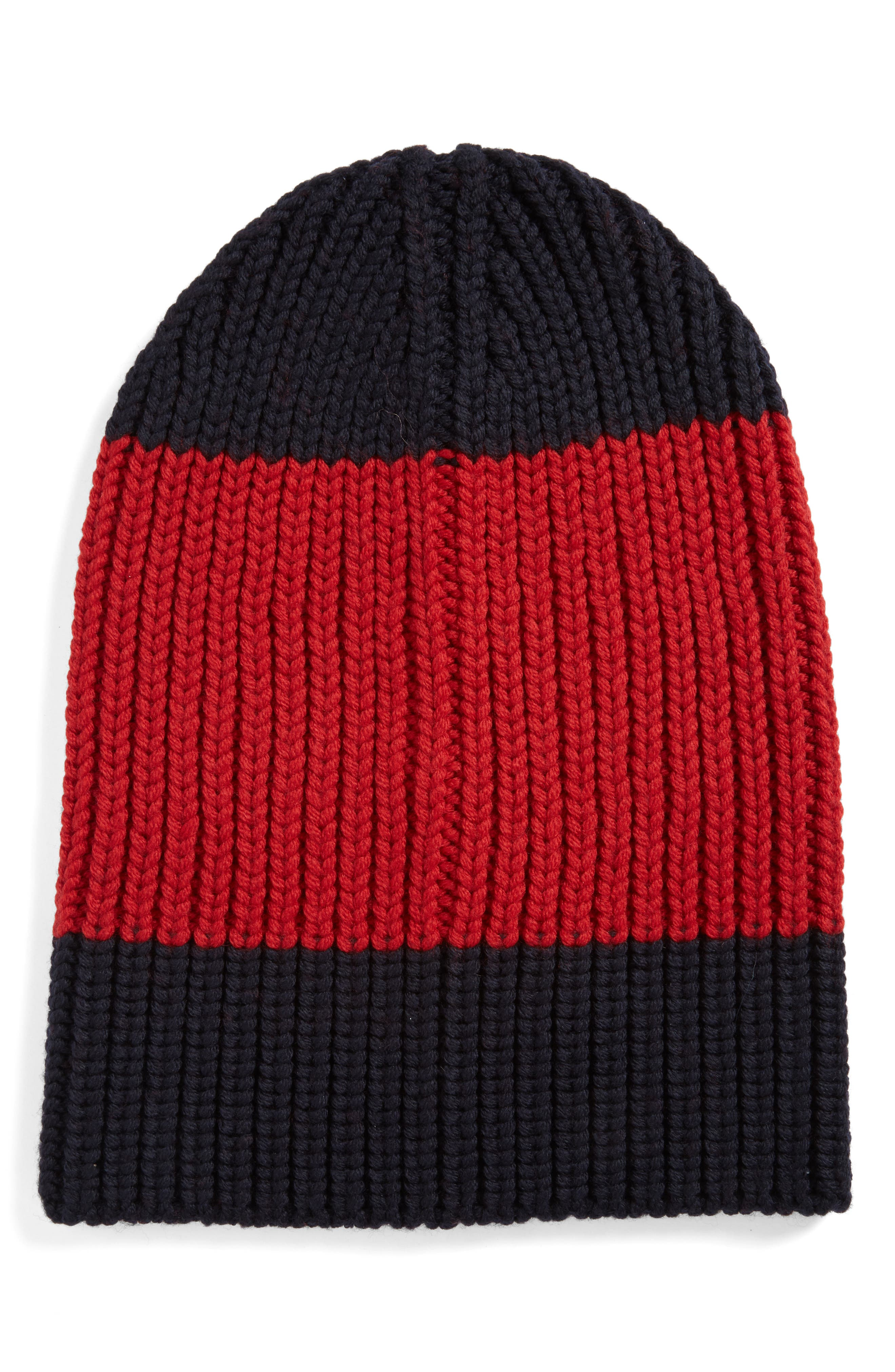 Gucci Colorblock Wool Knit Cap