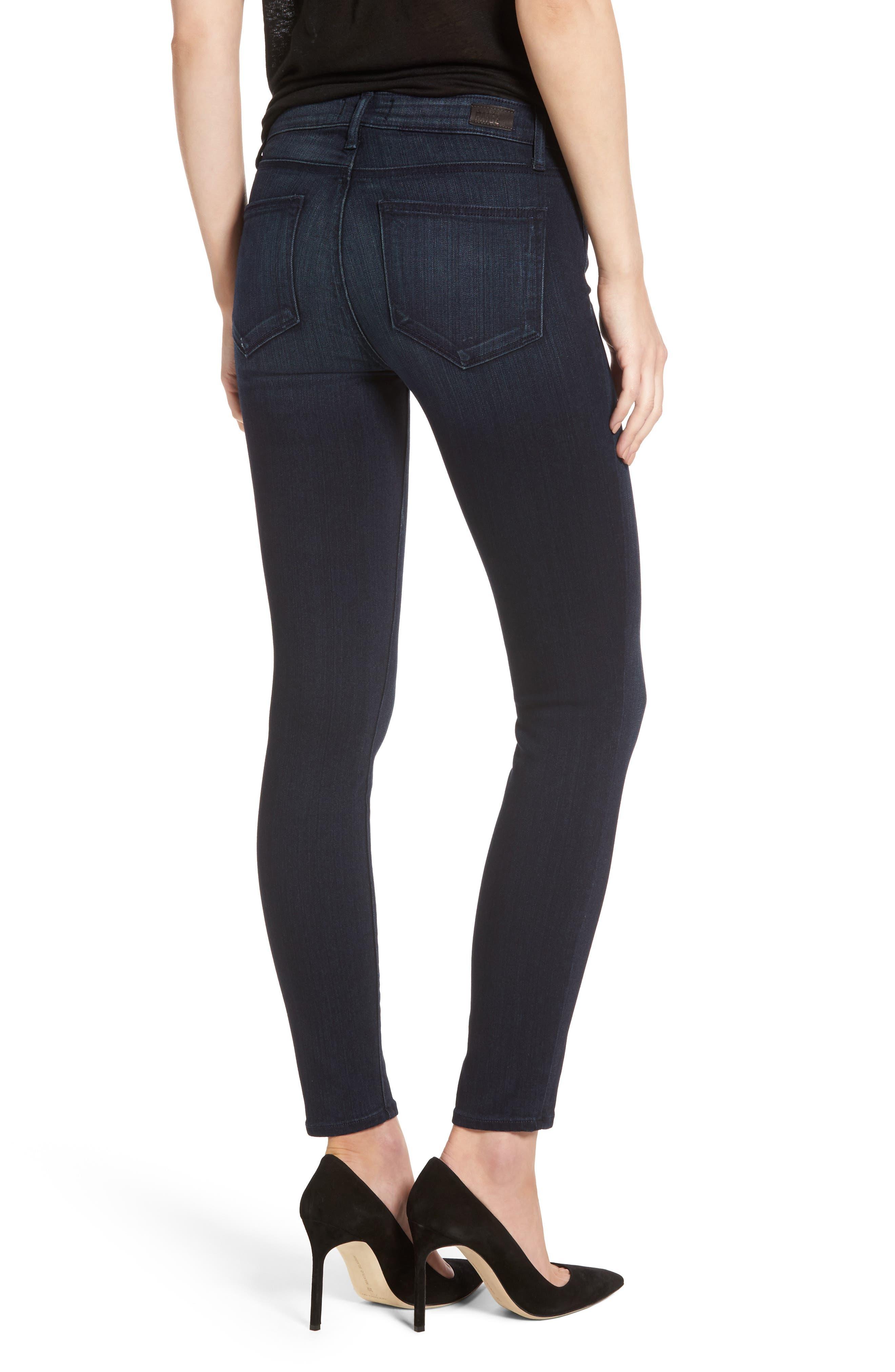 Transcend - Verdugo Ankle Skinny Jeans,                             Alternate thumbnail 2, color,                             Midlake
