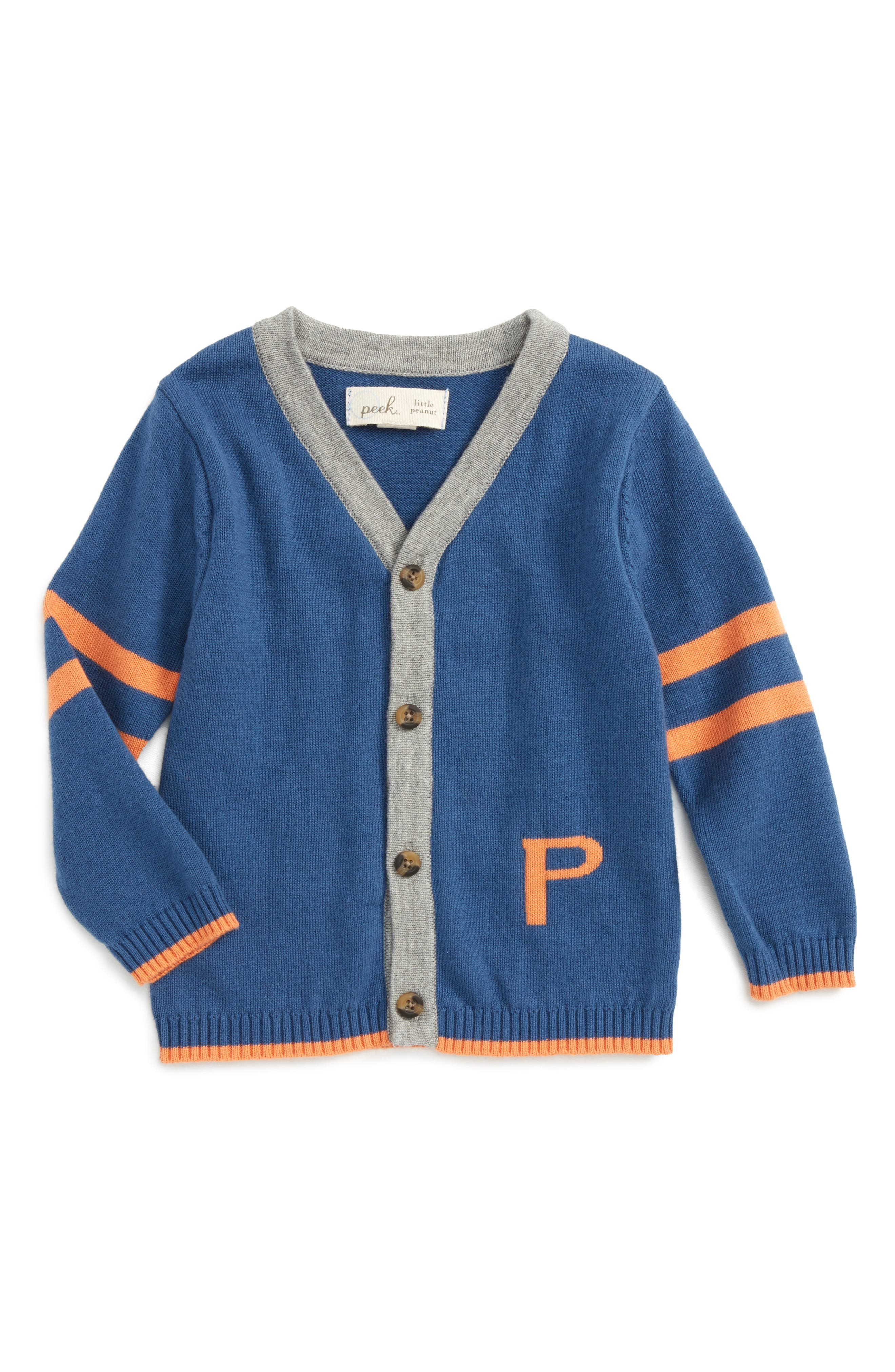 Peek Varsity Stripe Cardigan (Baby Boys)