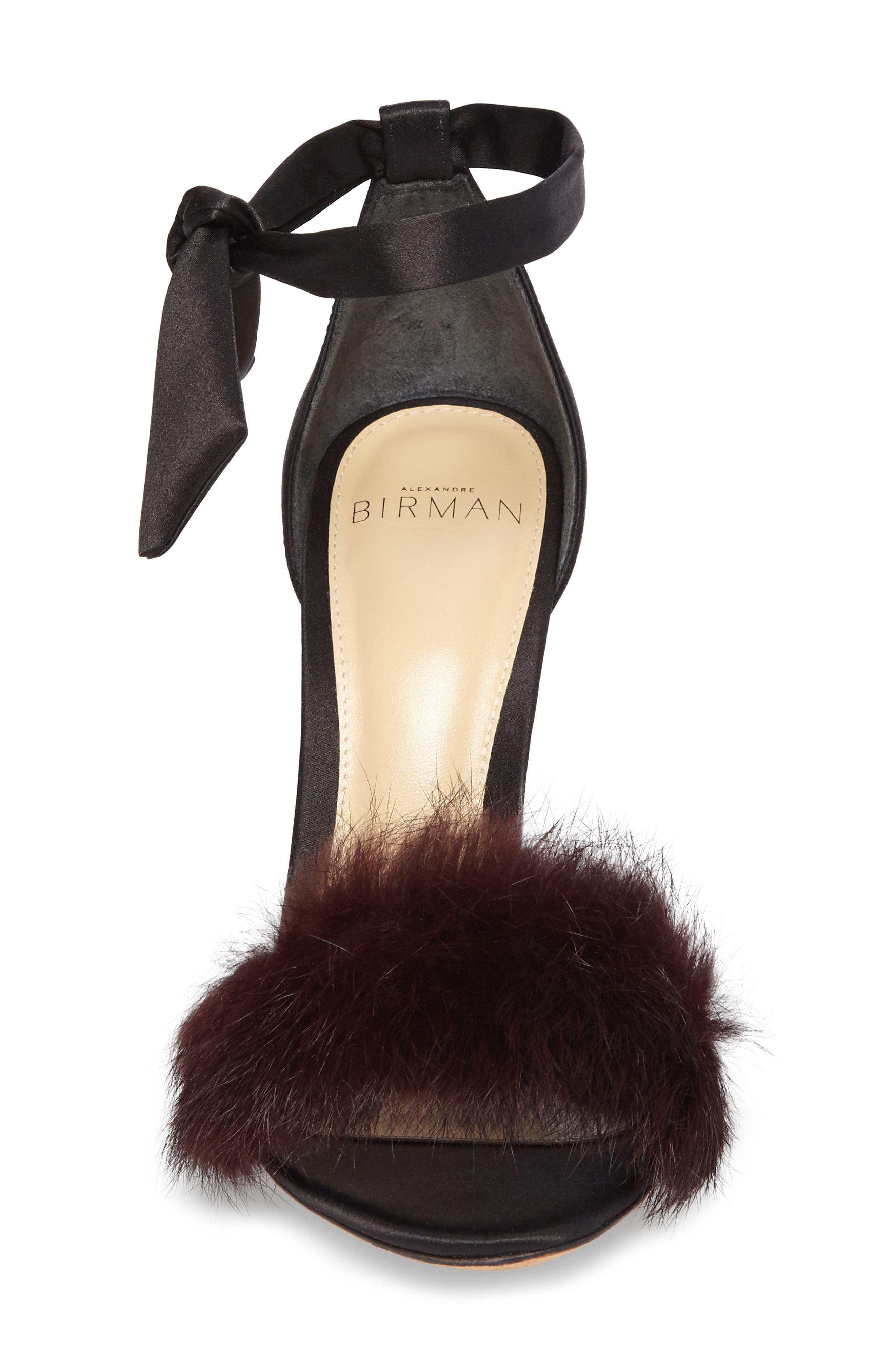 Alternate Image 4  - Alexandre Birman Clarita Genuine Rabbit Fur Sandal (Women)