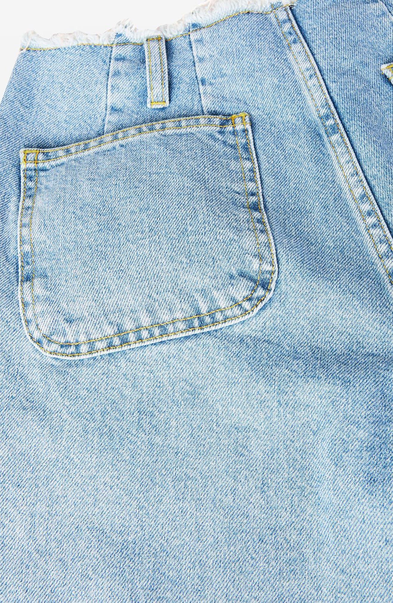 Alternate Image 6  - Topshop Boutique Frayed Waist Super Wide Leg Jeans