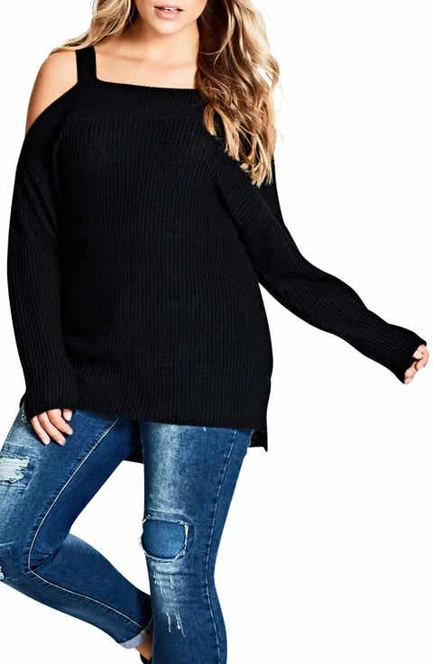 City Chic Off the Shoulder Sweater (Plus Size)