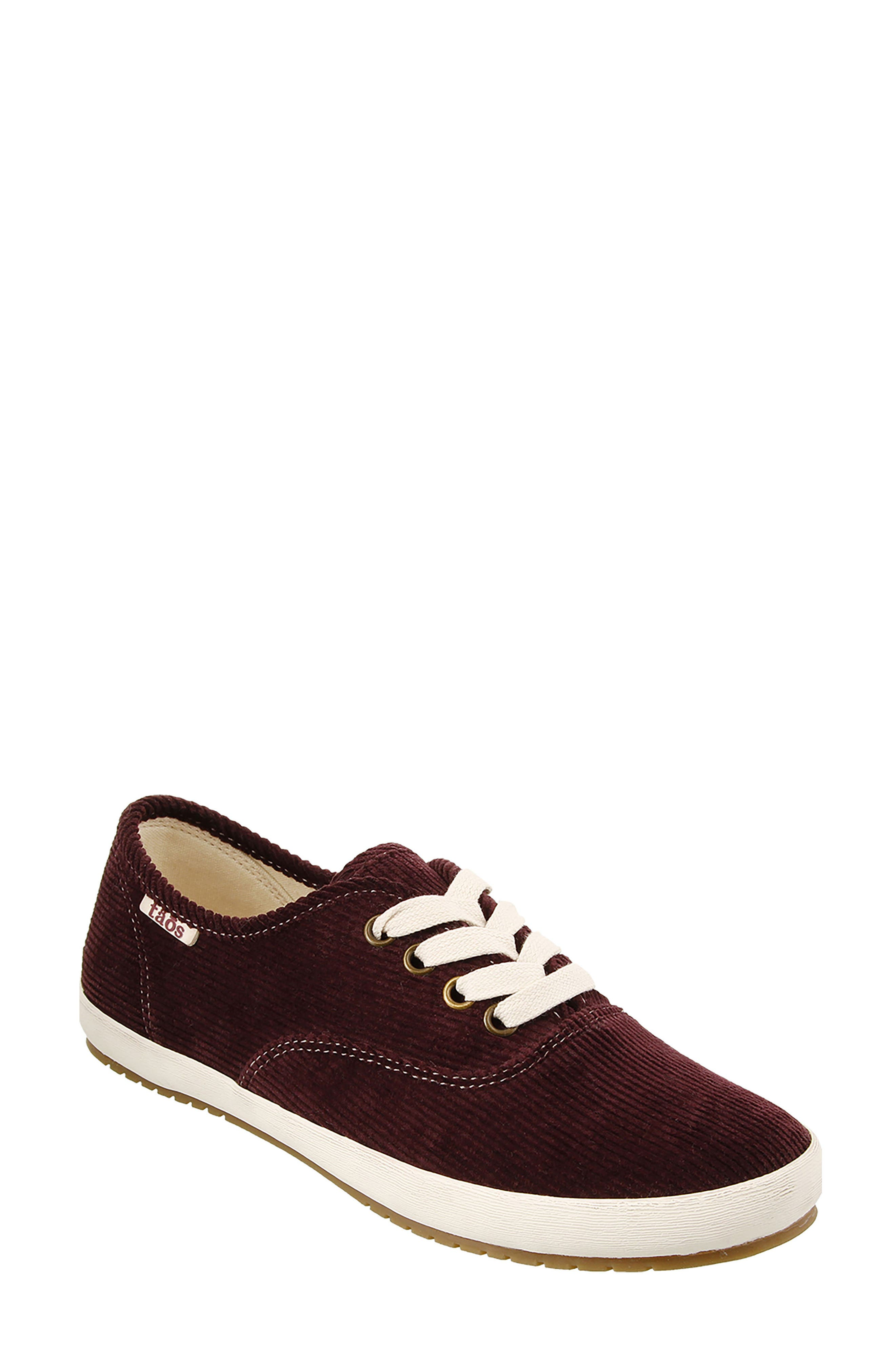 Guest Star Sneaker,                         Main,                         color, Bordeaux Cord Fabric