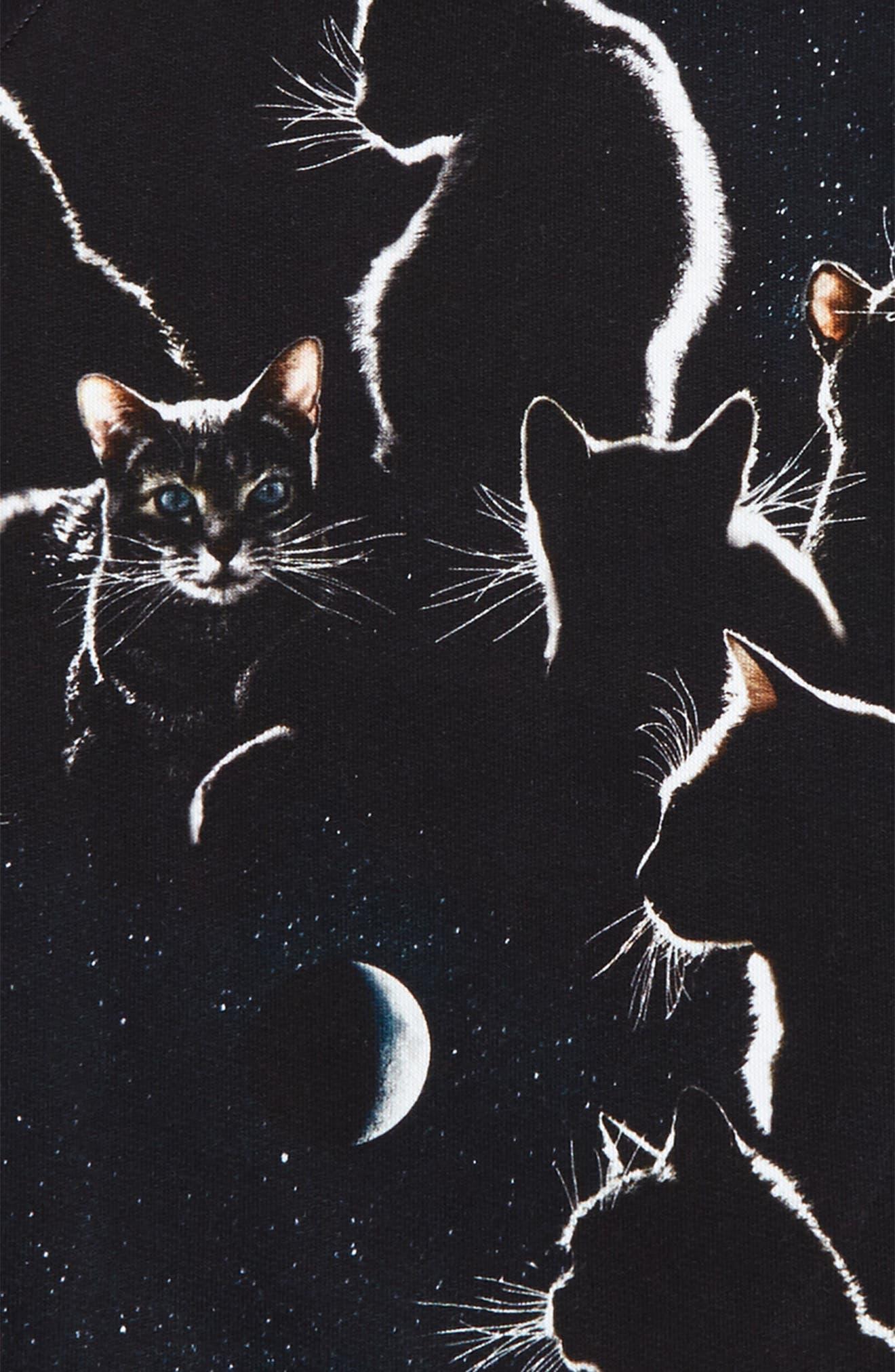 Alternate Image 2  - Molo Marina Moon Cats Sweatshirt (Toddler Girls, Little Girls & Big Girls)