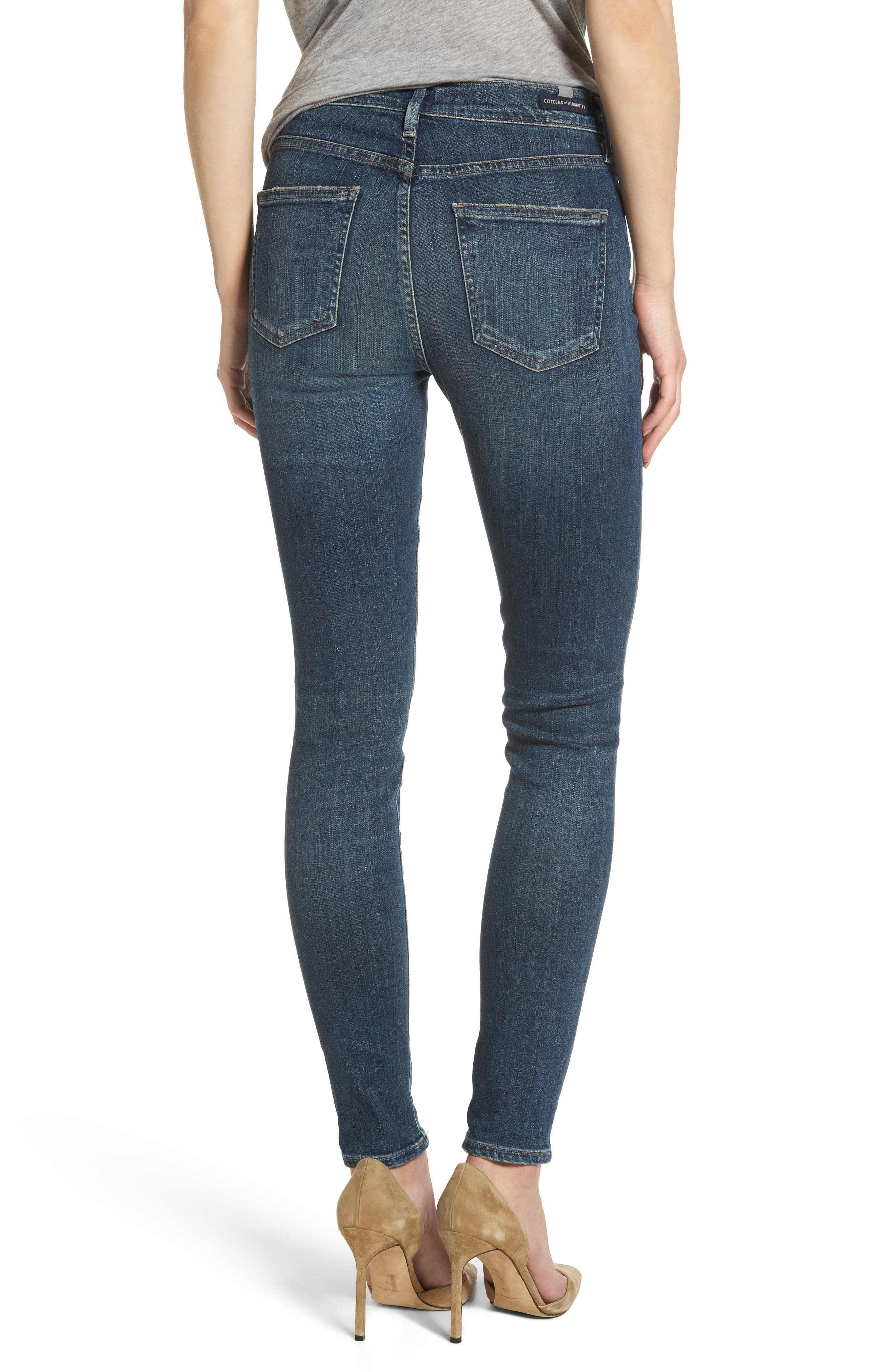 Rocket High Waist Skinny Jeans,                             Alternate thumbnail 2, color,                             Rival