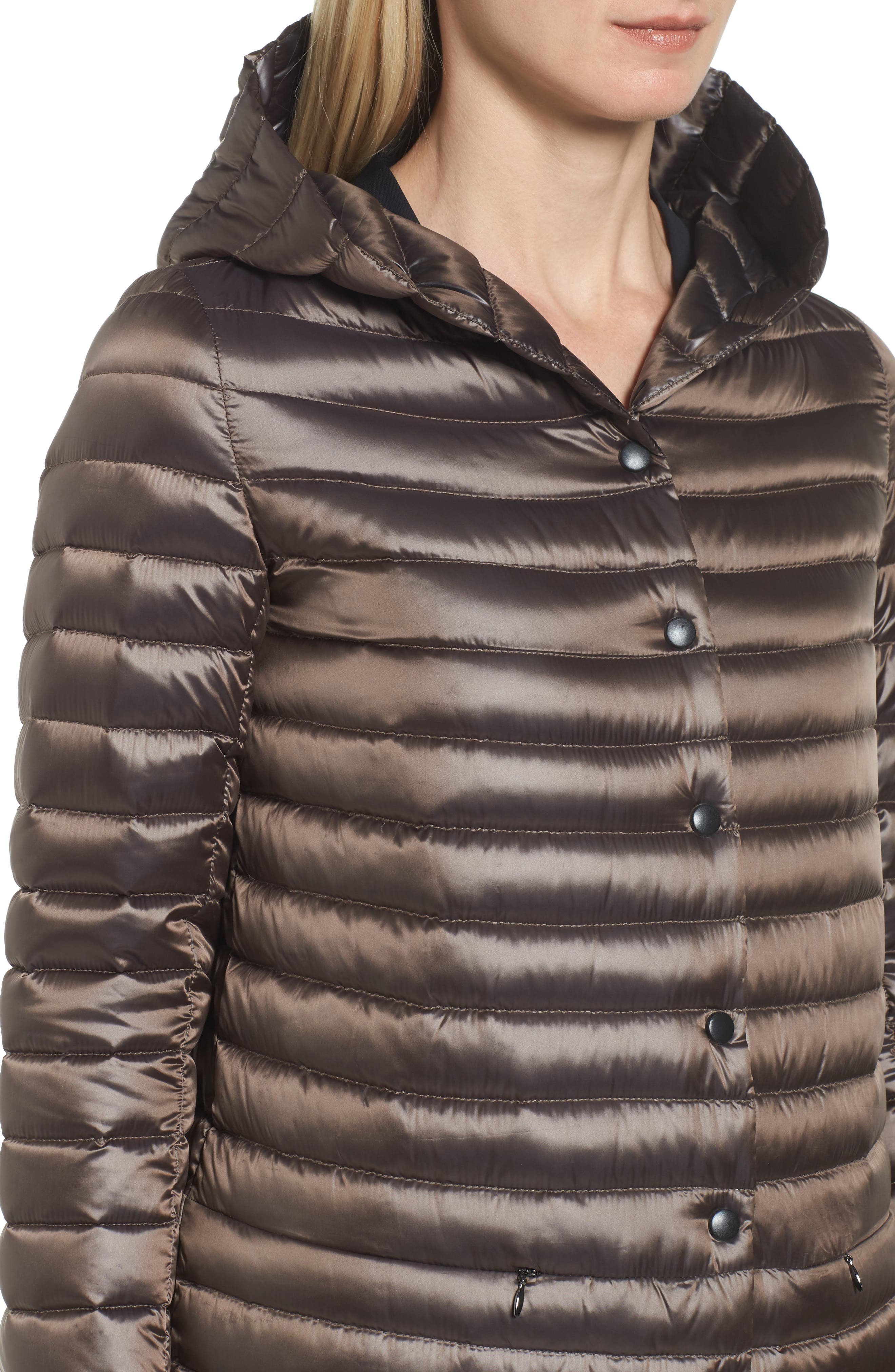 Reversible Down & Feather Fill Puffer Jacket,                             Alternate thumbnail 4, color,                             Copper