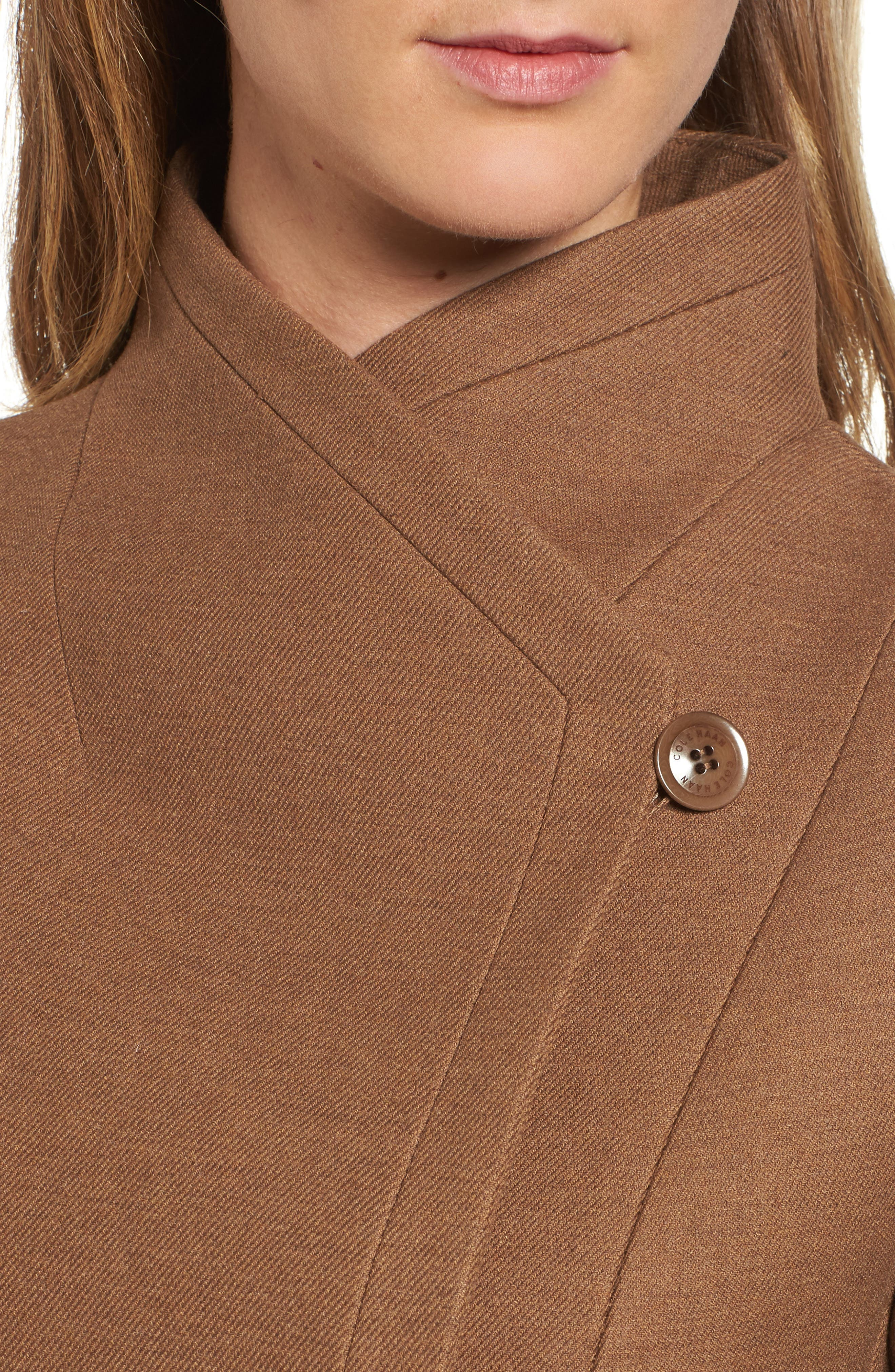 Alternate Image 4  - Cole Haan Belted Double Breasted Coat