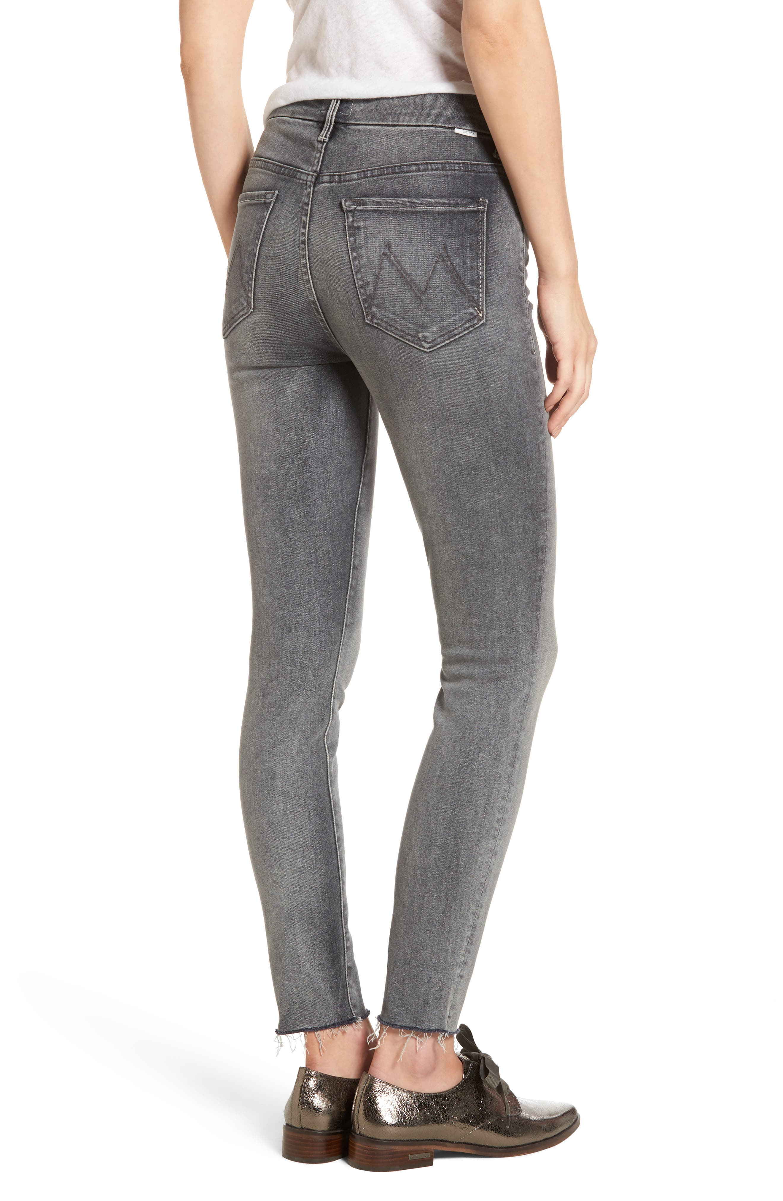 Alternate Image 2  - MOTHER The Looker Frayed Ankle Skinny Jeans (Huntress)