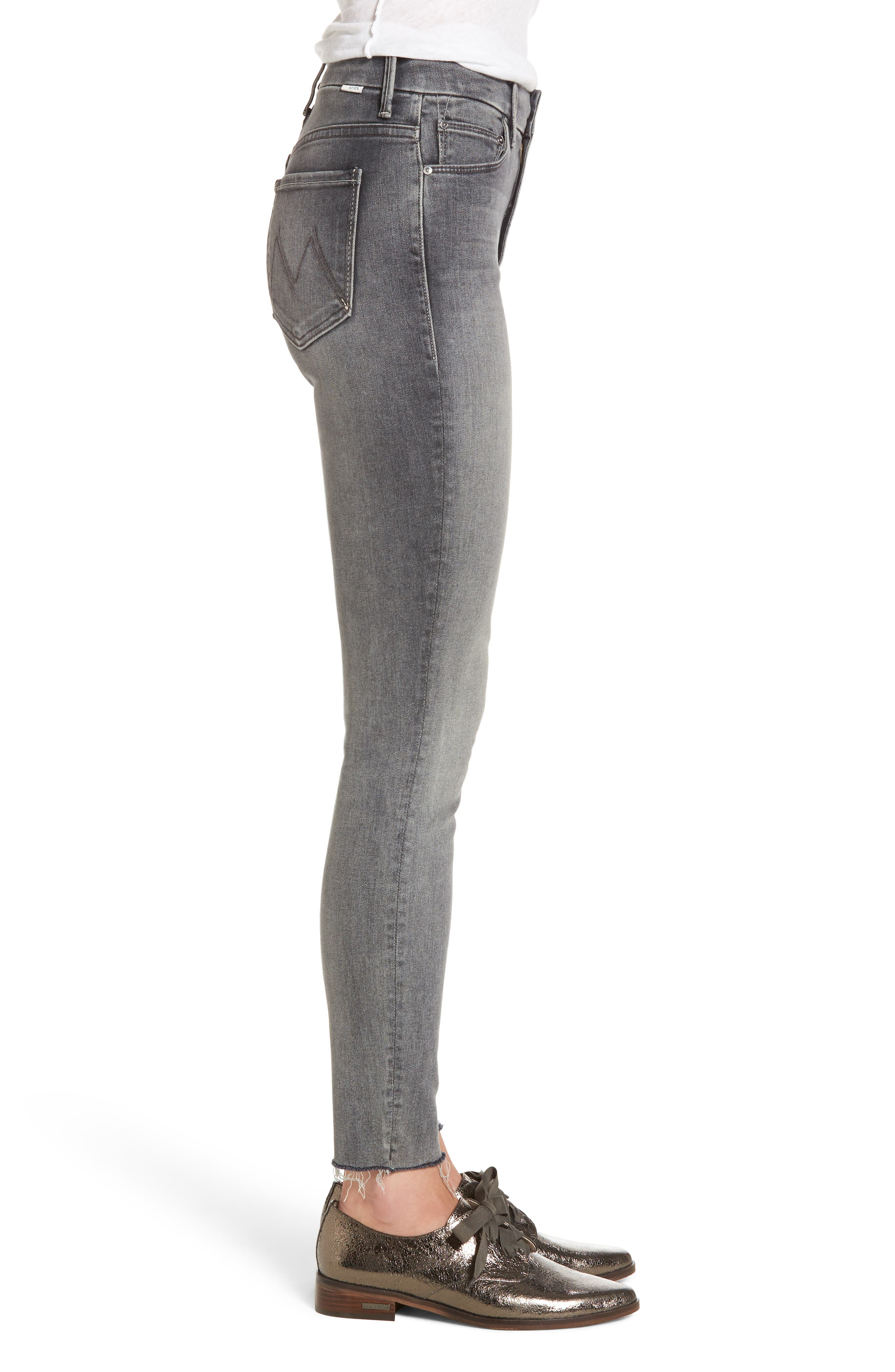 Alternate Image 3  - MOTHER The Looker Frayed Ankle Skinny Jeans (Huntress)